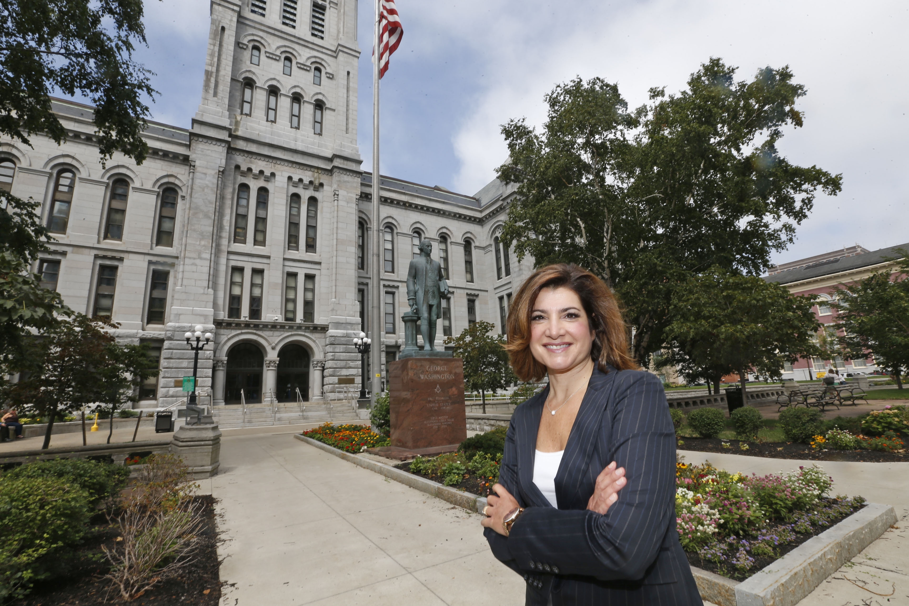 Former news anchor Joanna Pasceri needs her boss, acting District Attorney Michael J. Flaherty Jr., to keep his seat this election season.