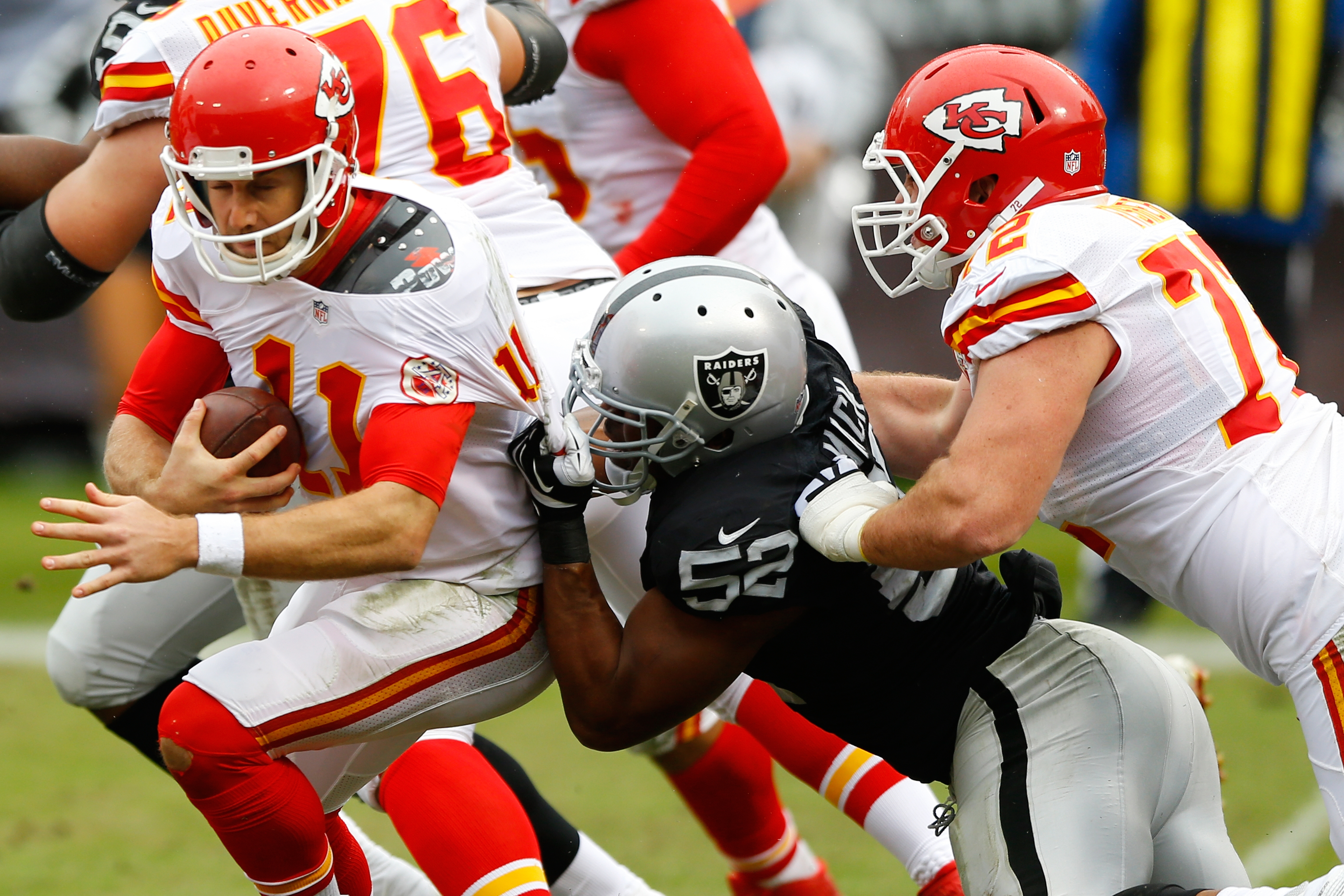Khalil Mack last season became the first player in NFL history voted first-team All-Pro at two positions. Some former stars look on in awe and wonder how best to define him.