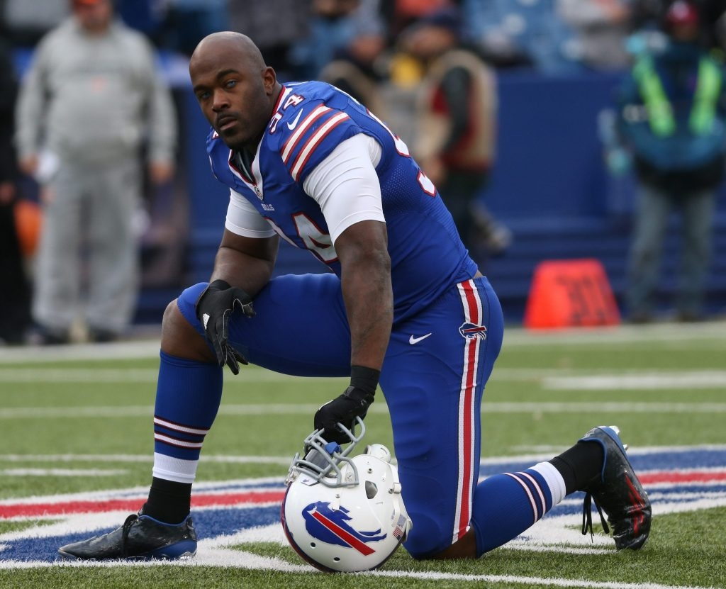 Mario Williams gave the Bills a good return on investment the first three seasons of his $100 million contract, but things took a turn for the worse in his fourth year. (James P. McCoy/Buffalo News)