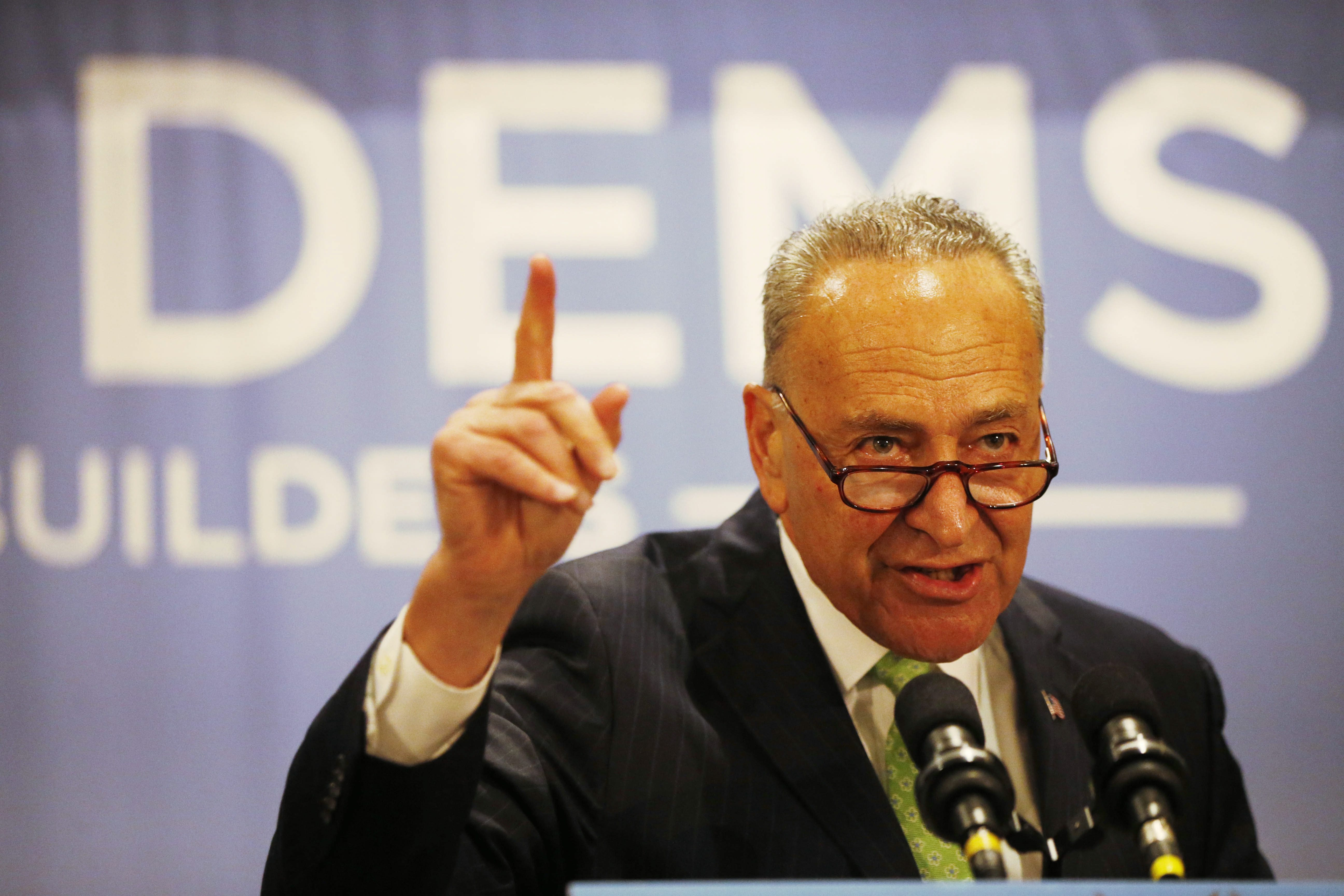 Derek Gee/Buffalo News  Sen. Charles Schumer, pictured here during the New York Democrat breakfast at the Loews Hotel in Philadelphia in July, said Monday that he recently suffered a bout of pneumonia.