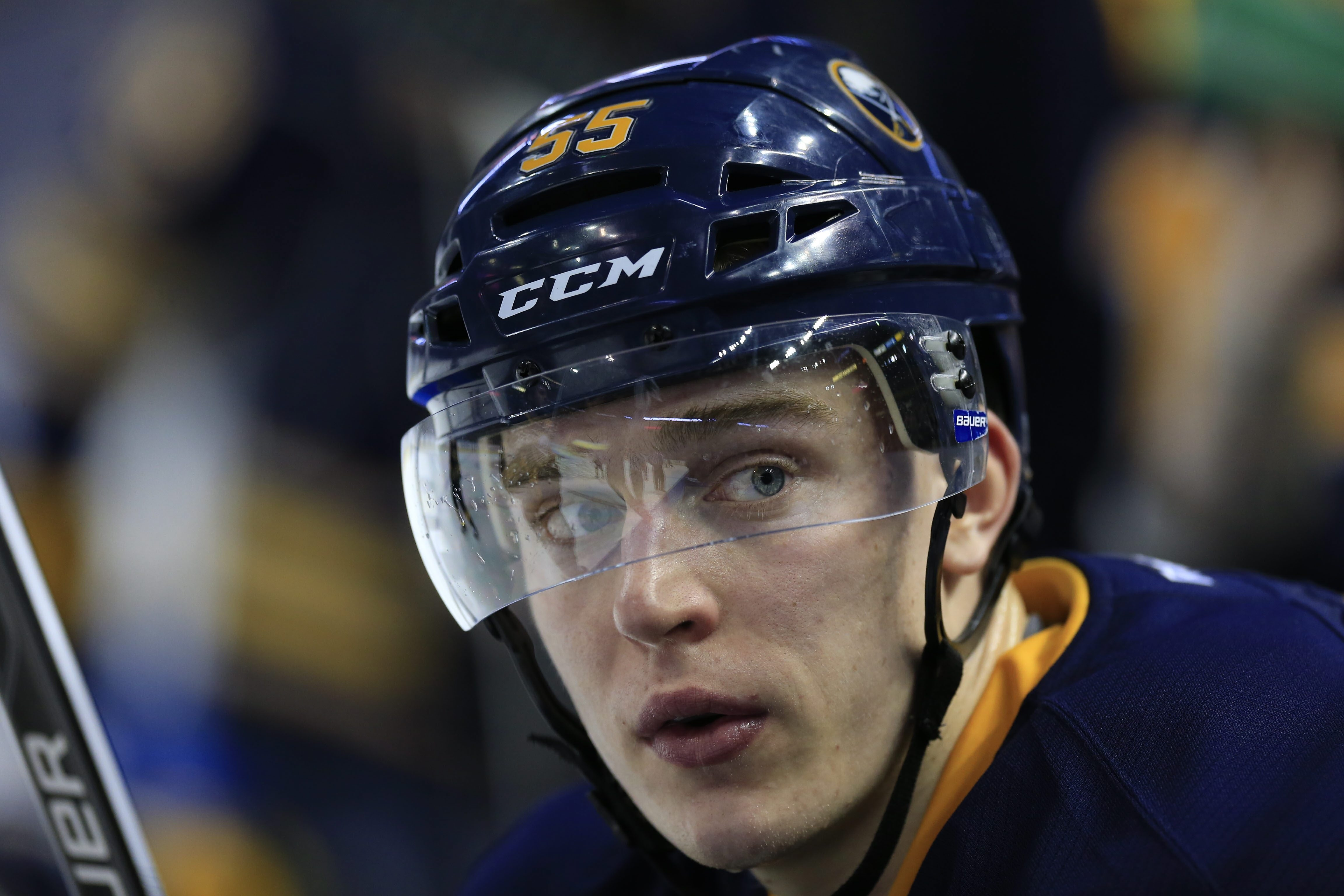 Sabres defenseman Rasmus Ristolainen is confident his contract situation will be resolved. (Harry Scull Jr./Buffalo News)