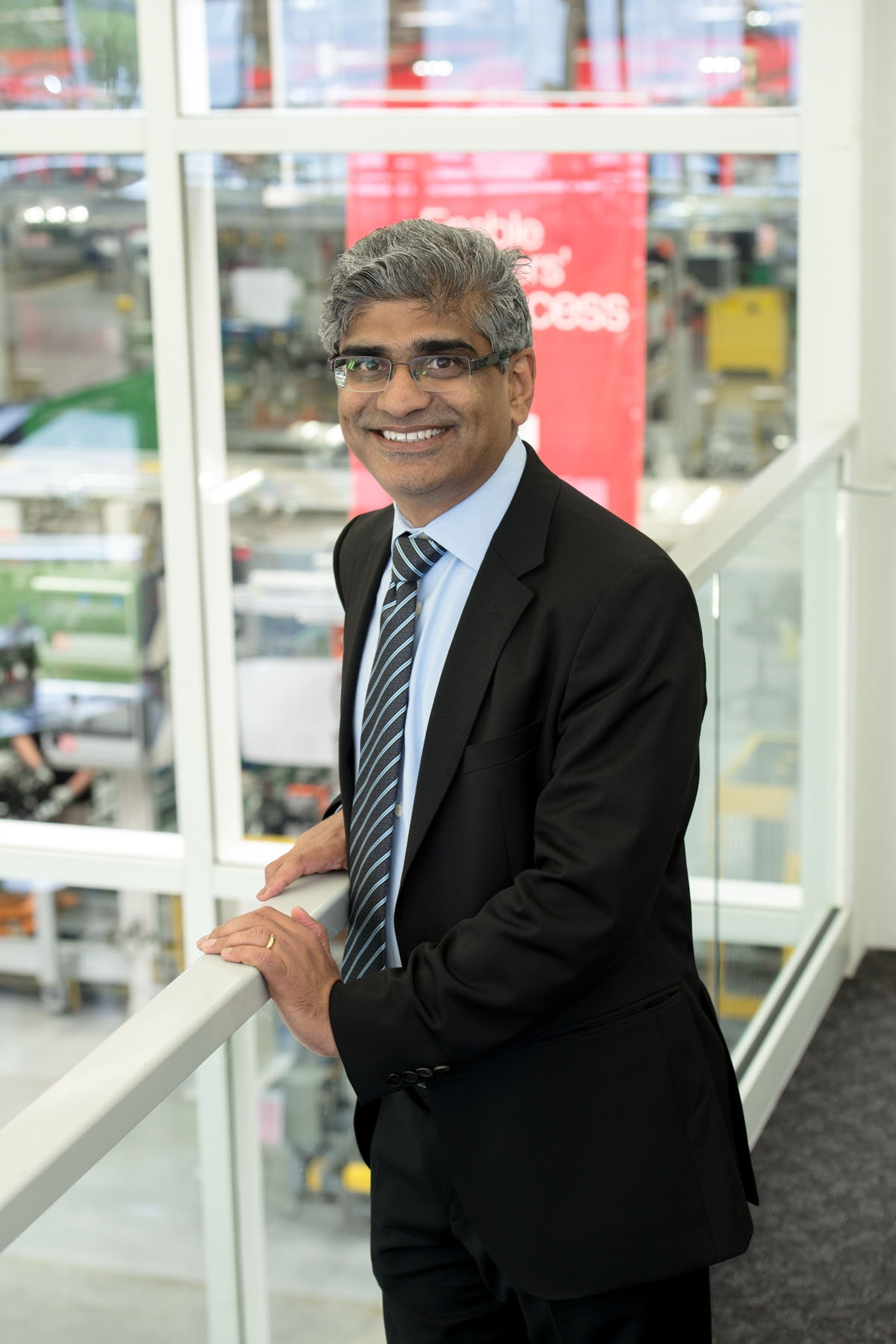 """""""I tell these guys all the time, the only way we win in the marketplace is, we see the future first and try to beat our competition to it.""""– Srikanth Padmanabahn, president of Cummins' engine business"""