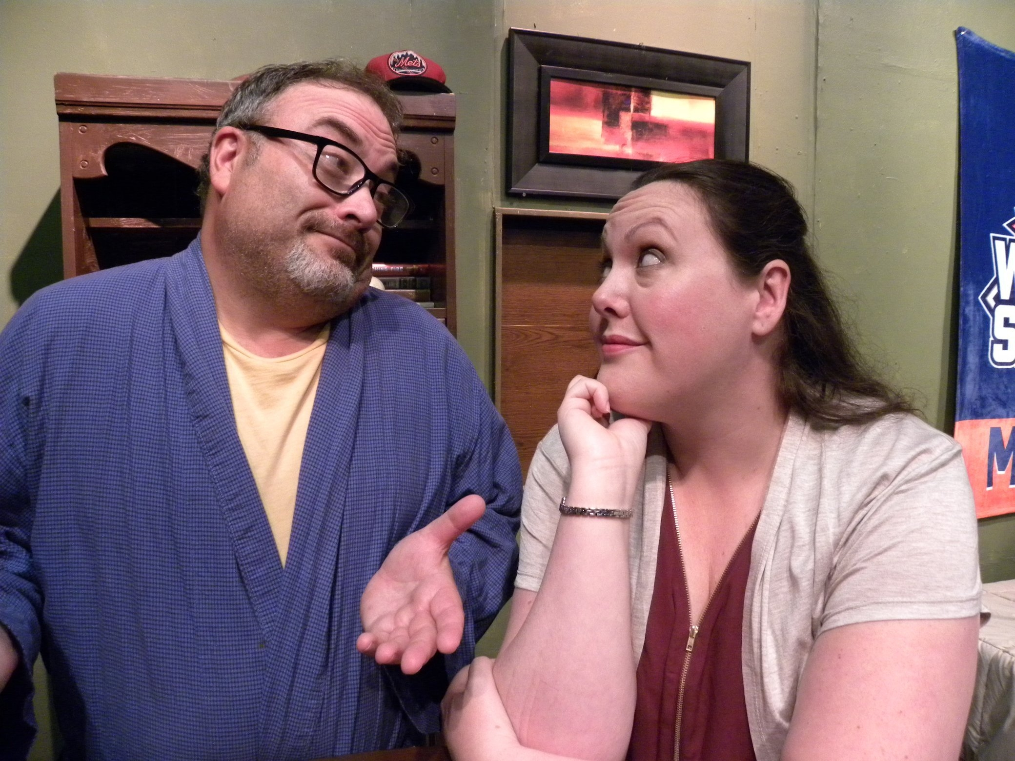 David C. Mitchell and Melissa Leventhal star in 'Dear Lydia' at Alleyway Theatre.