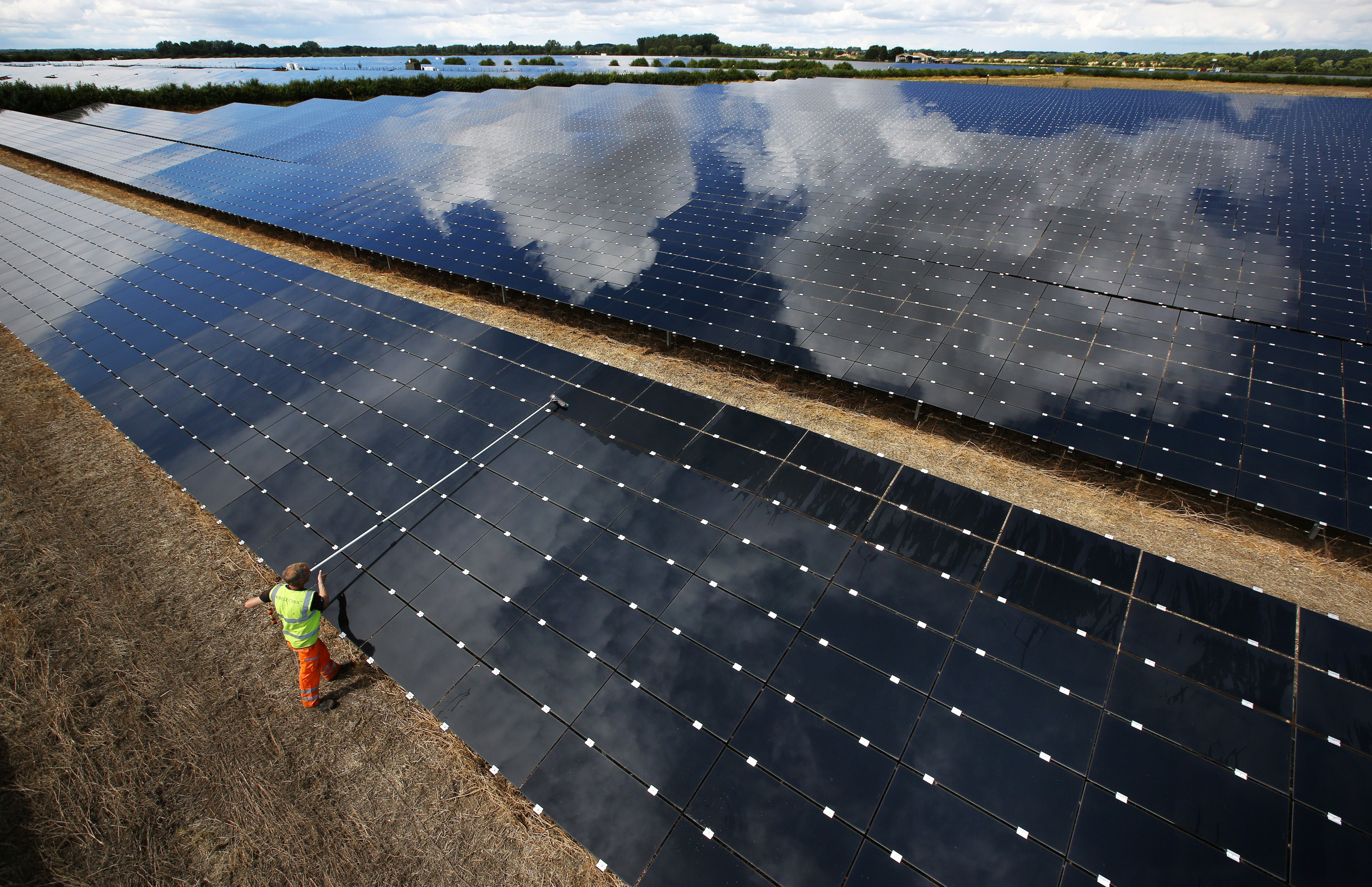 Solar farm companies are increasingly looking to large swathes of land in places such as Western New York for the acreage they need for their installations of panels. (Peter Macdiarmid/Getty Images)