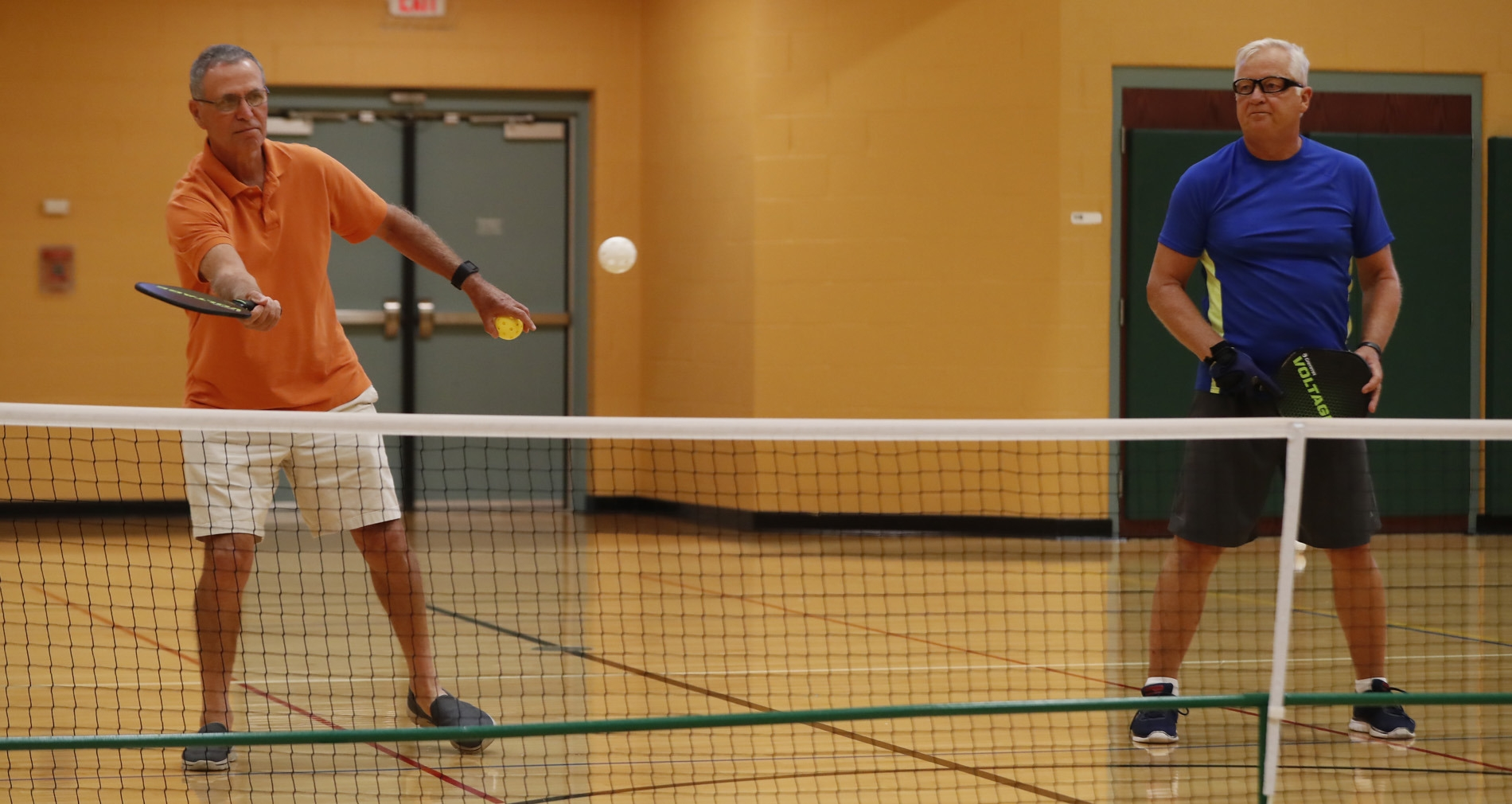 Jim Kargen and Bob Sproull are two of a growing number of pickleball players in Western New York.
