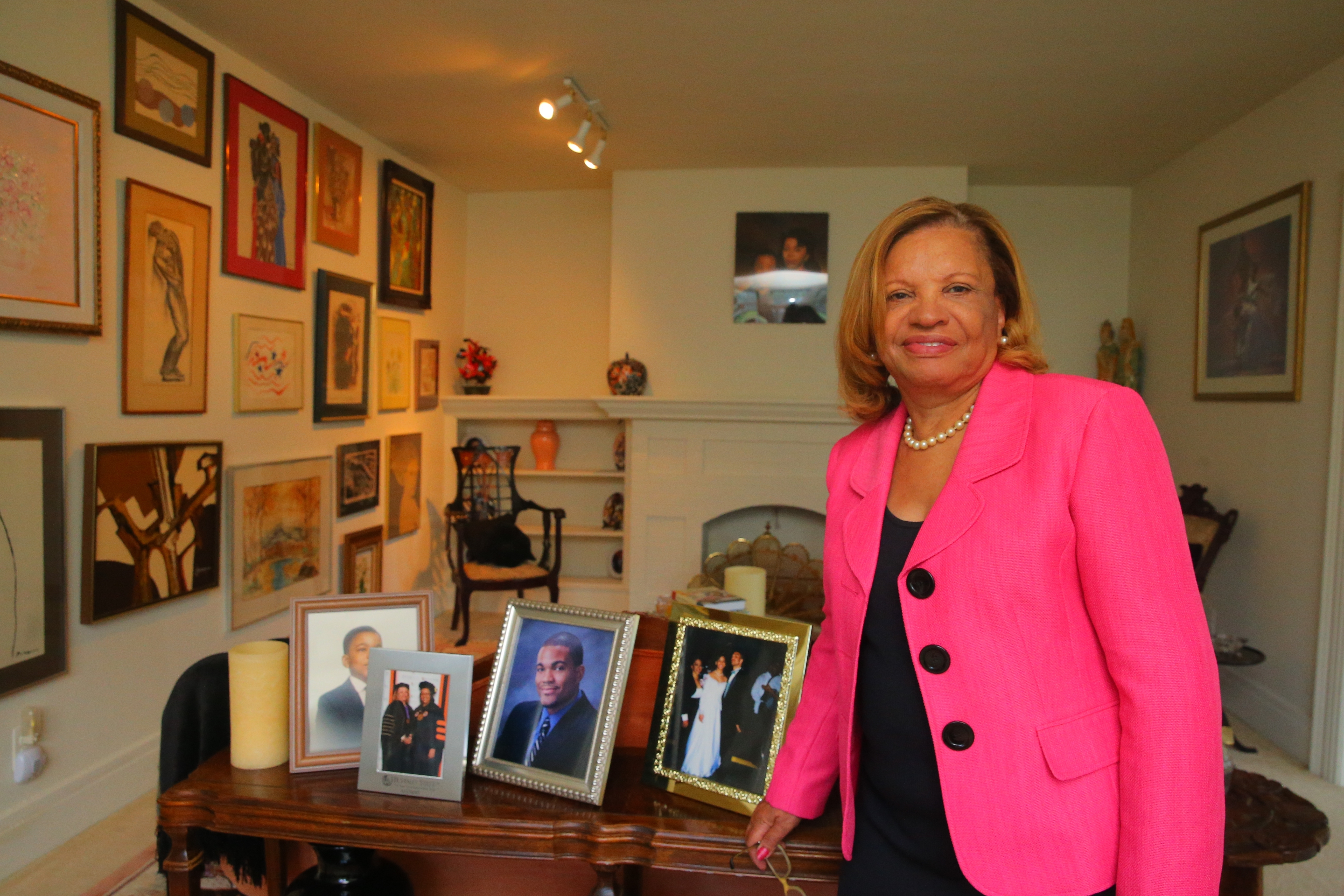 Catherine Fisher Collins, at her Buffalo home, brings a varied background to the state Board of Regents.