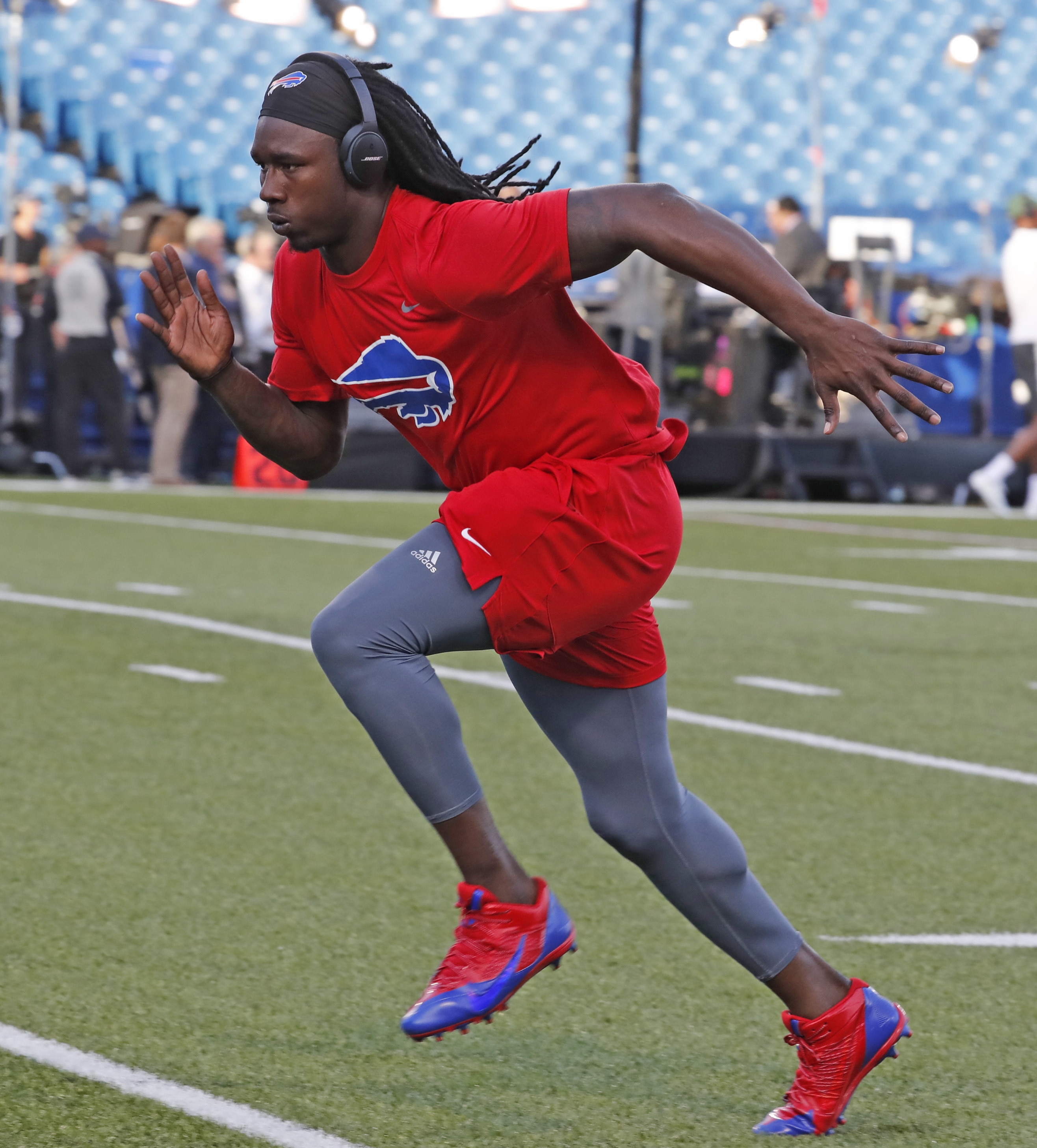Sammy Watkins works out on the field prior to Thursday's game. (Harry Scull Jr./Buffalo News)