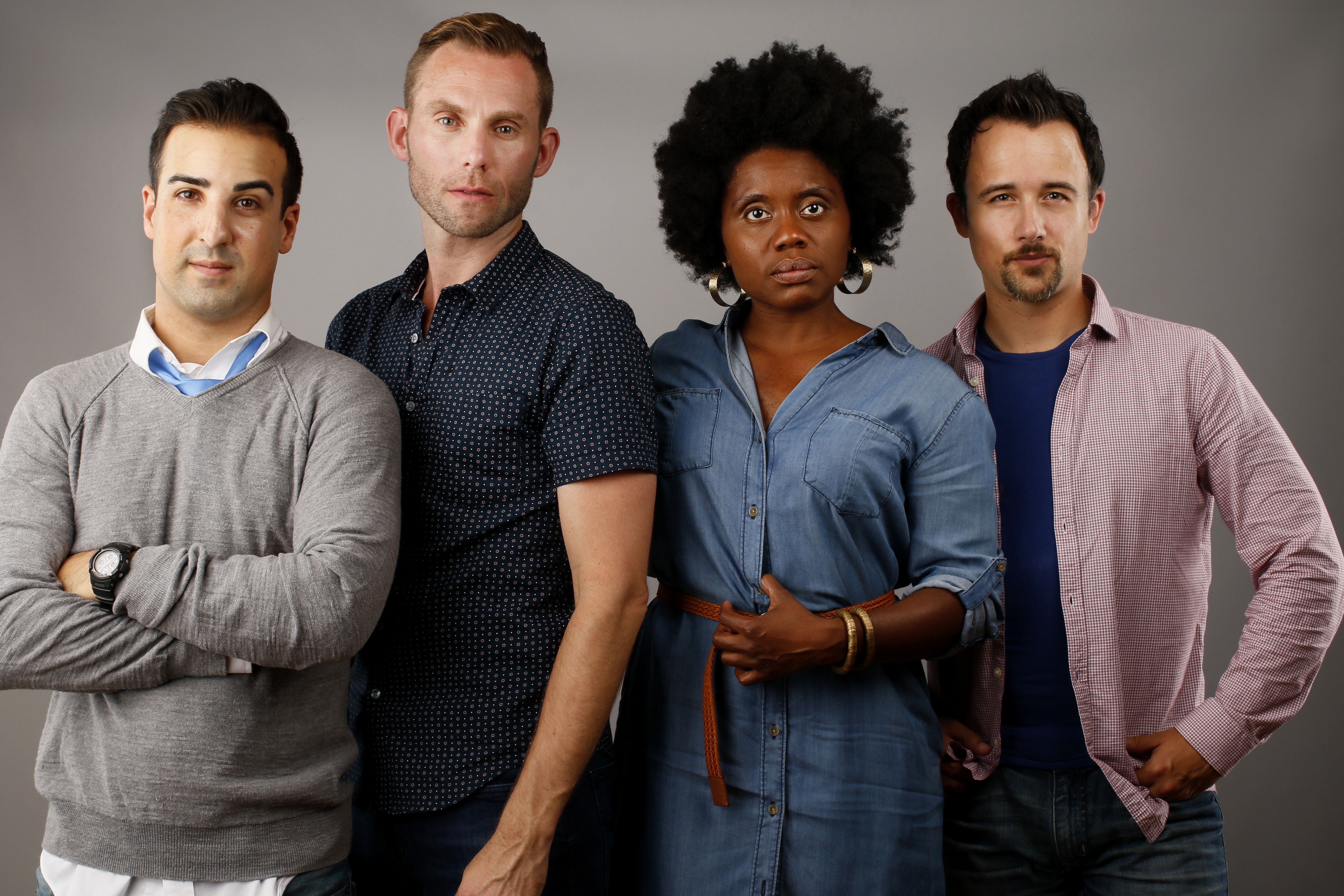 """Adam Hayes, Michael Seitz, Shanntina Moore and Rick Lattimer star in Ujima Theatre and Buffalo United Artists' co-production of """"The Submission."""""""
