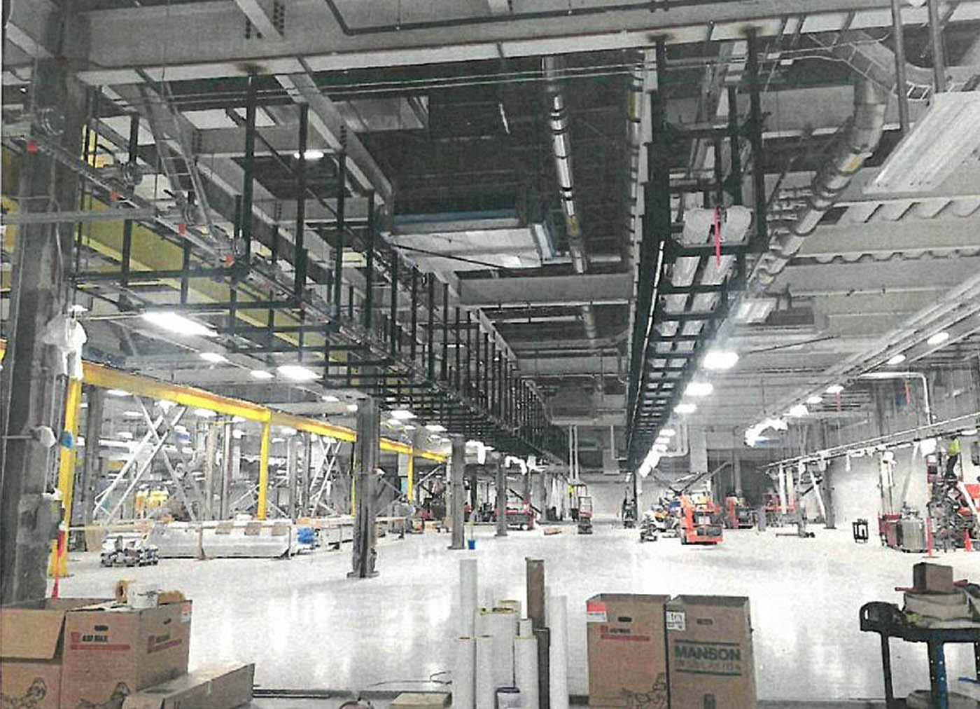The first glimpse inside the massive SolarCity facility at Buffalo's RiverBend comes courtesy of Empire State Development Corp.'s update on the project, which states the structure is scheduled for 'substantial completion' by Sept. 15.