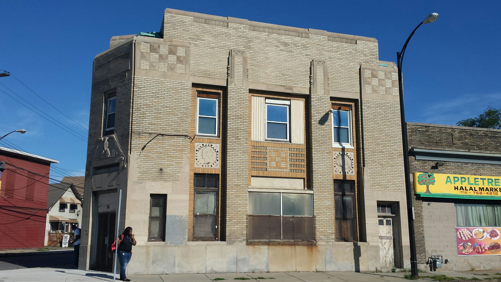 The former Liberty Bank branch building at 892 Genesee St., Buffalo, will be converted into apartments under a plan approved by the Buffalo Zoning Board of Appeals on Sept.21, 2016. The building, owned by Temple of Christ Church, features Art Deco ornamentation.