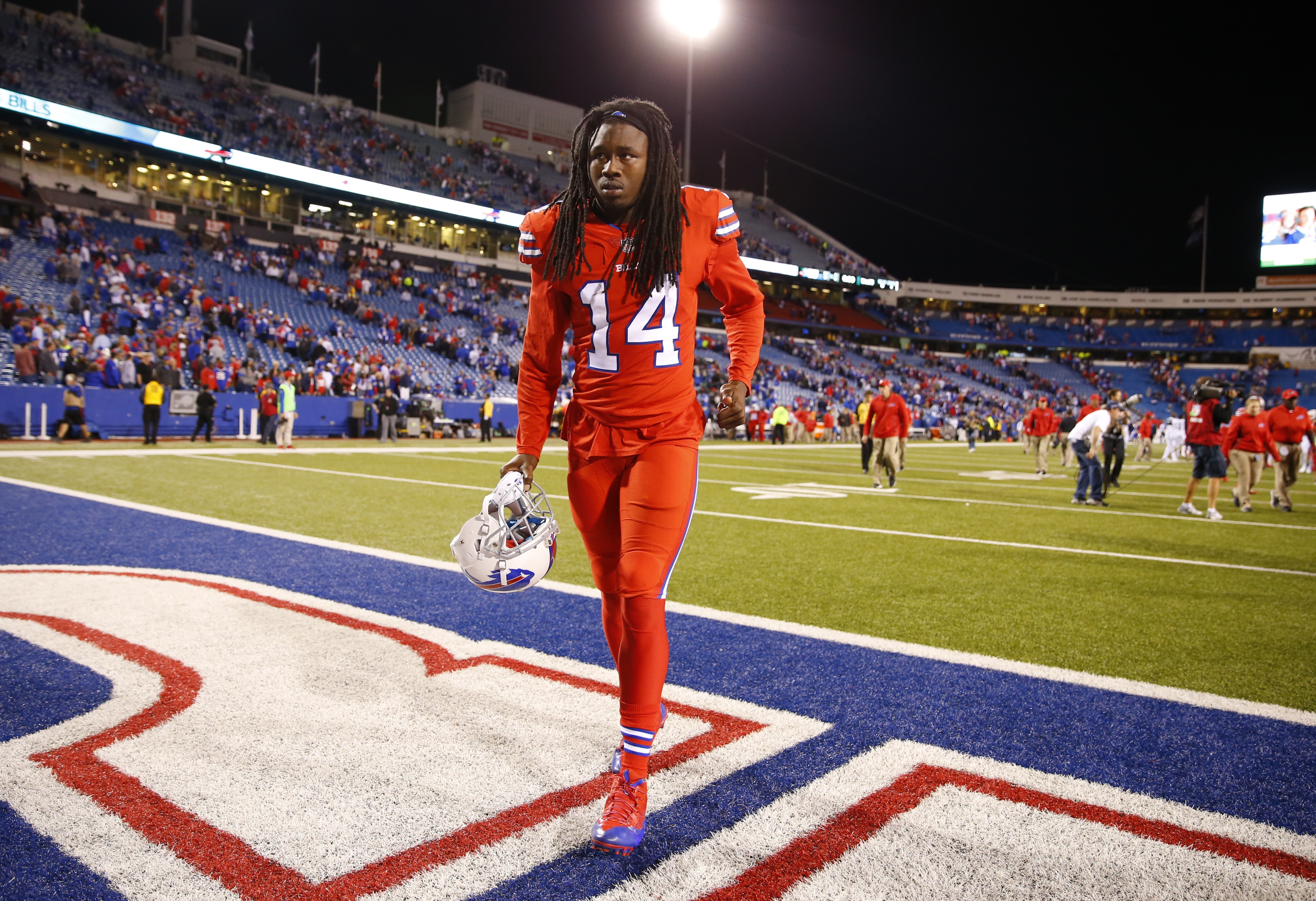 Buffalo Bills Sammy Watkins walks off he field after a loss to the New York Jets at New Era Field on Thursday, Sept. 15, 2016.  (Harry Scull Jr./Buffalo News)