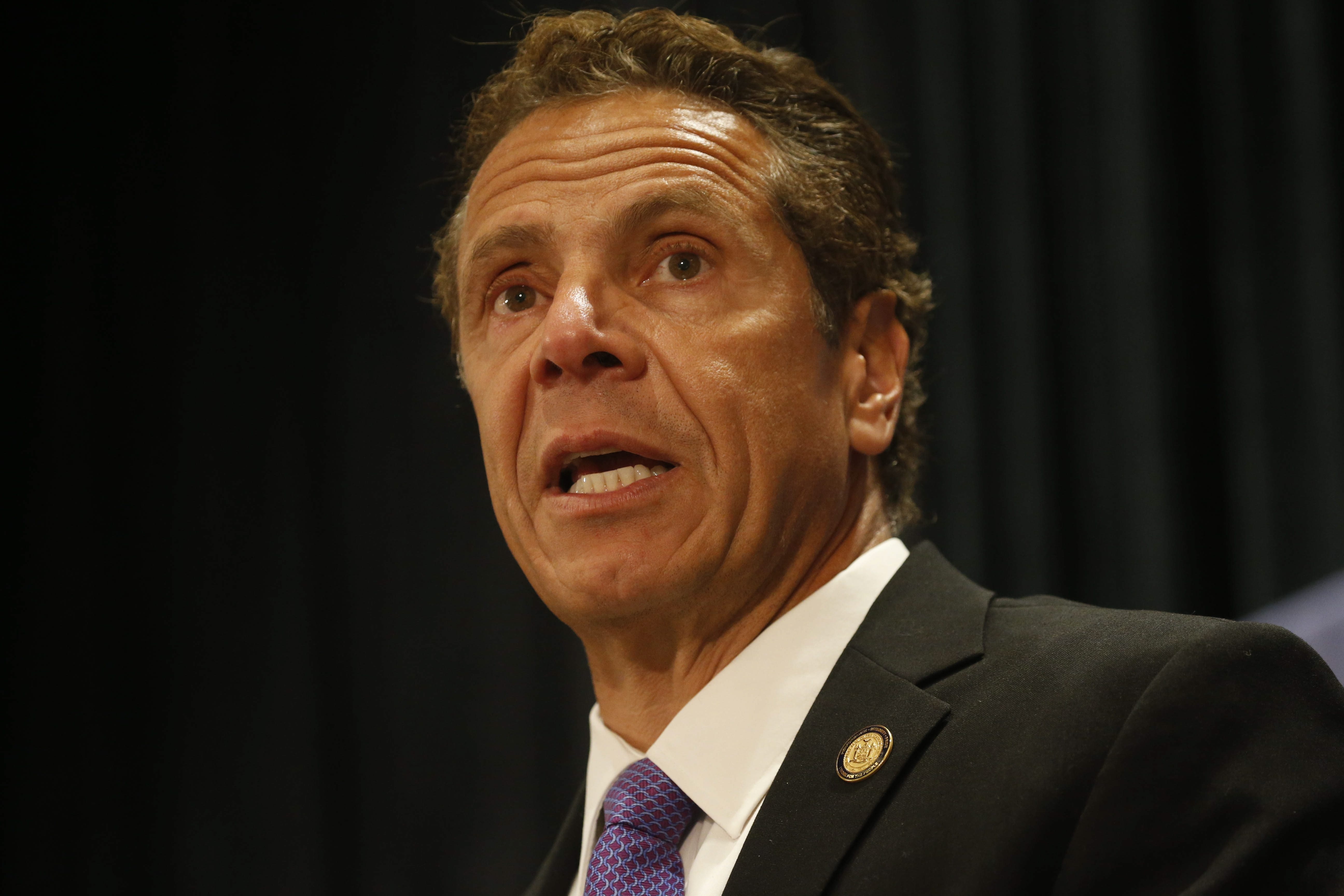 New York Gov. Andrew Cuomo speaks during the New York delegation breakfast at the Loews Hotel in Philadelphia, Tuesday, July 26, 2016.  (Photo by Derek Gee)