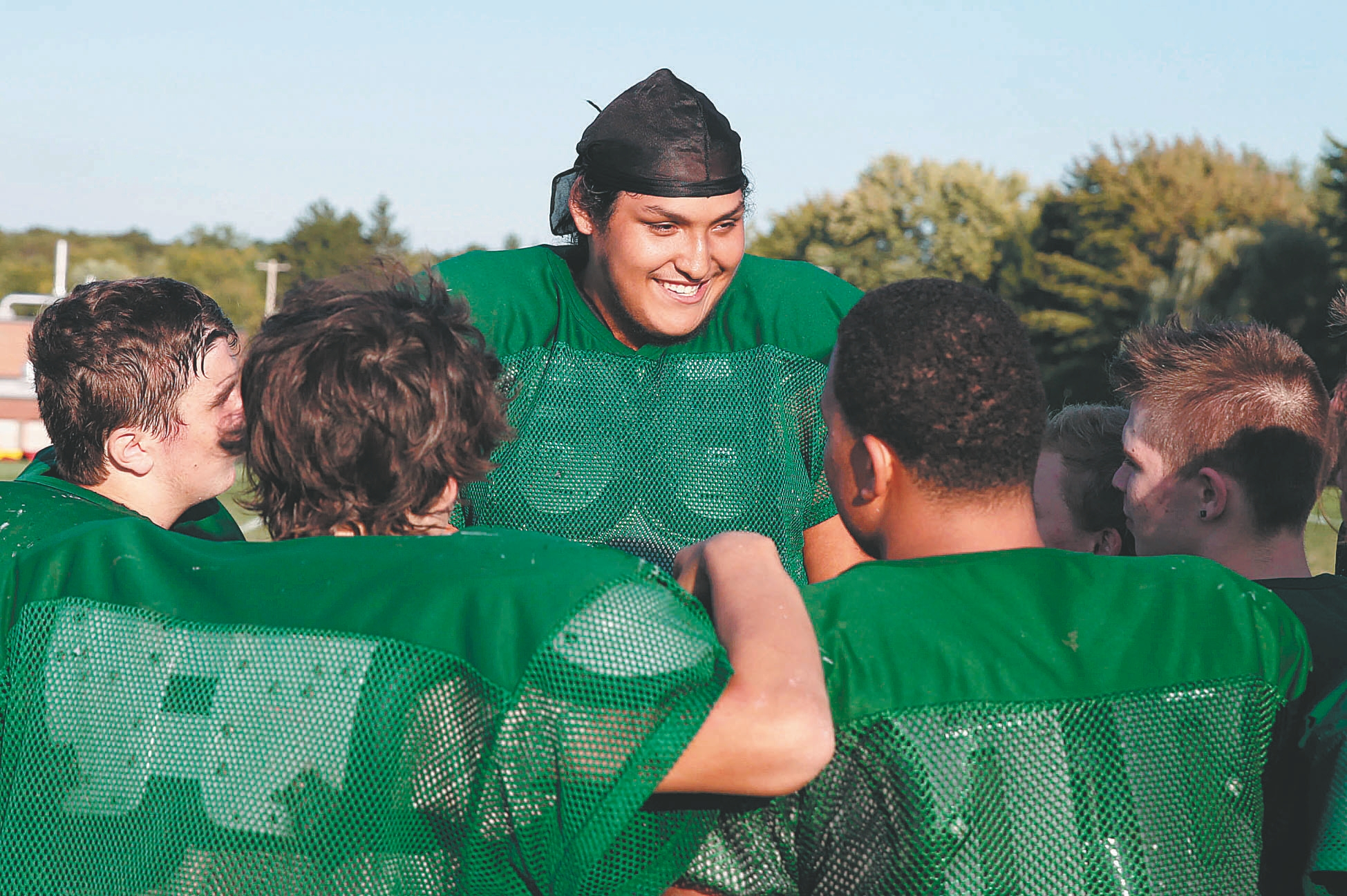 Brave Williams is the biggest lineman – by far – for Lake Shore.