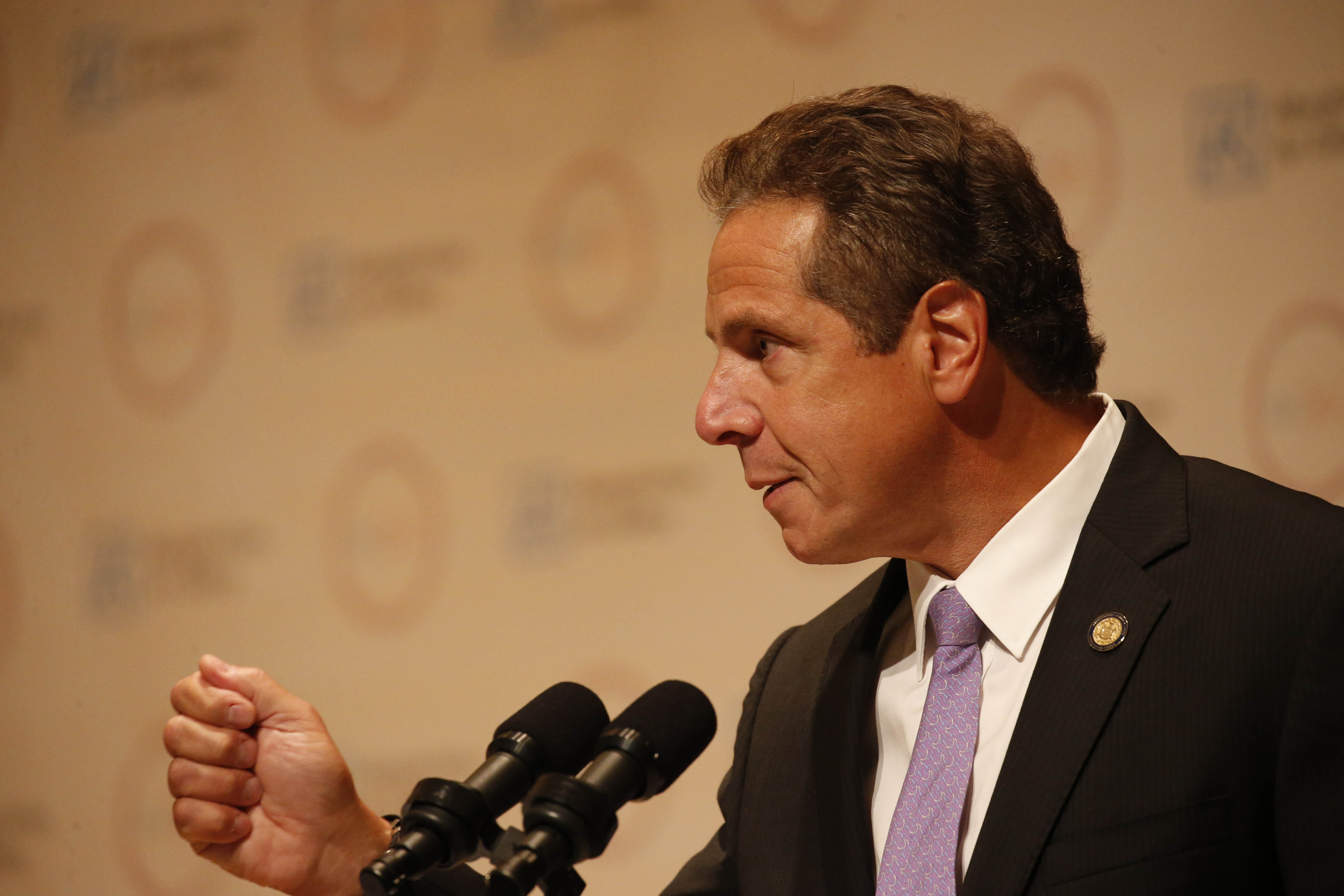 Gov. Andrew Cuomo speaks during an event at the Albright-Knox Art Gallery on Friday, Sept. 23, 2016.  (Derek Gee/Buffalo News)