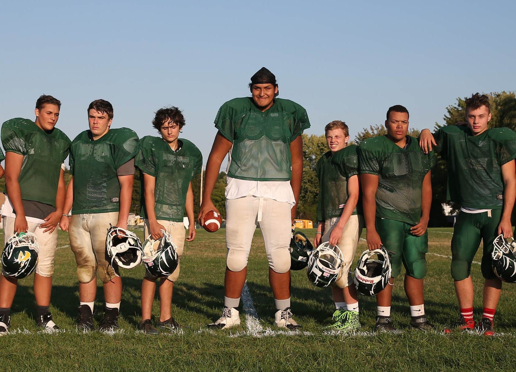 He's 7-foot-1, weighs 400 pounds and plays football at Lake Shore