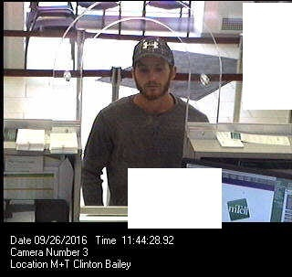 Bank robbery at Clinton and Bailey.