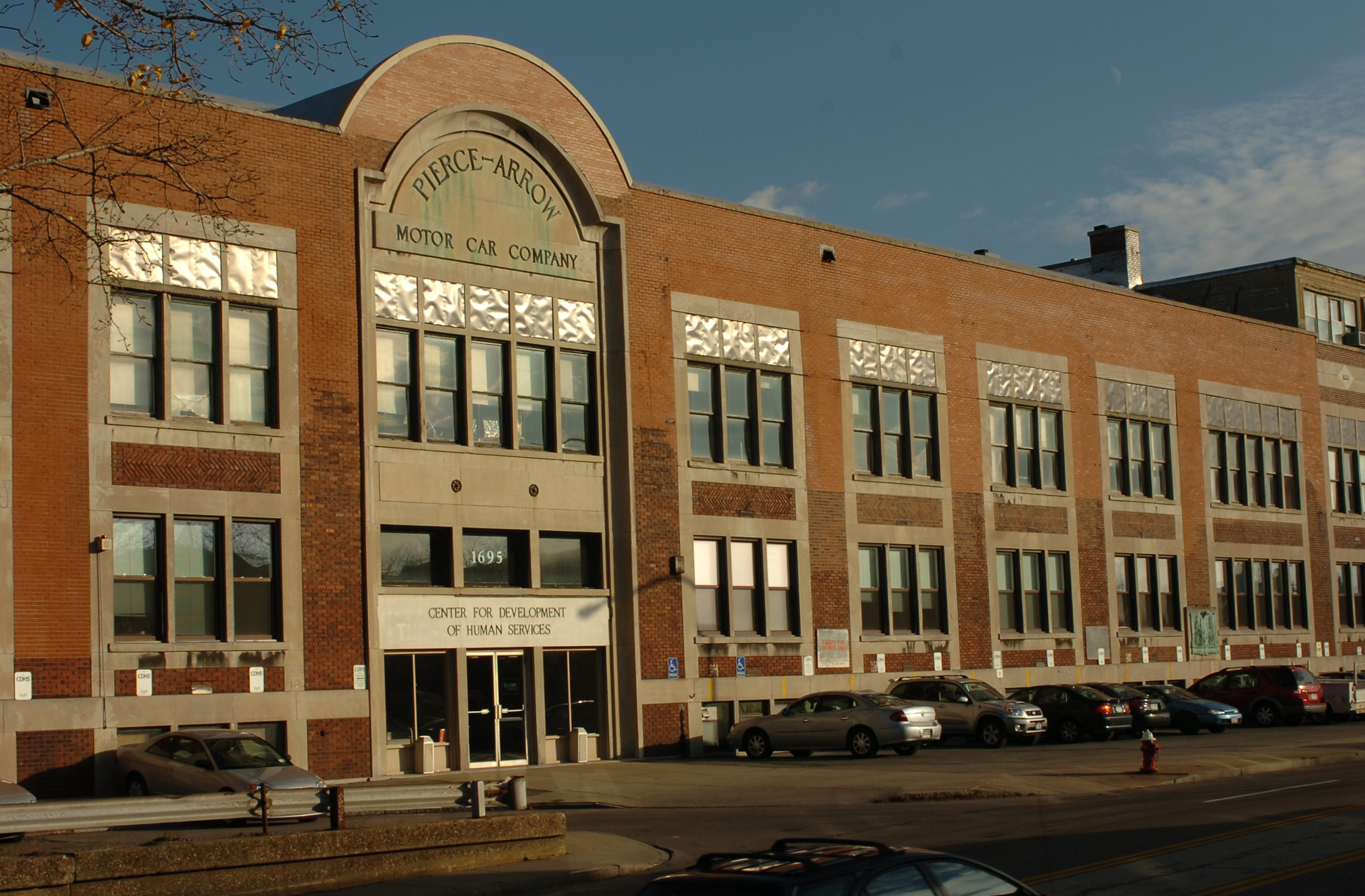 The front of the former Pierce-Arrow Motor Car Company building, at 1695 Elmwood Ave. in Buffalo. (News file photo)
