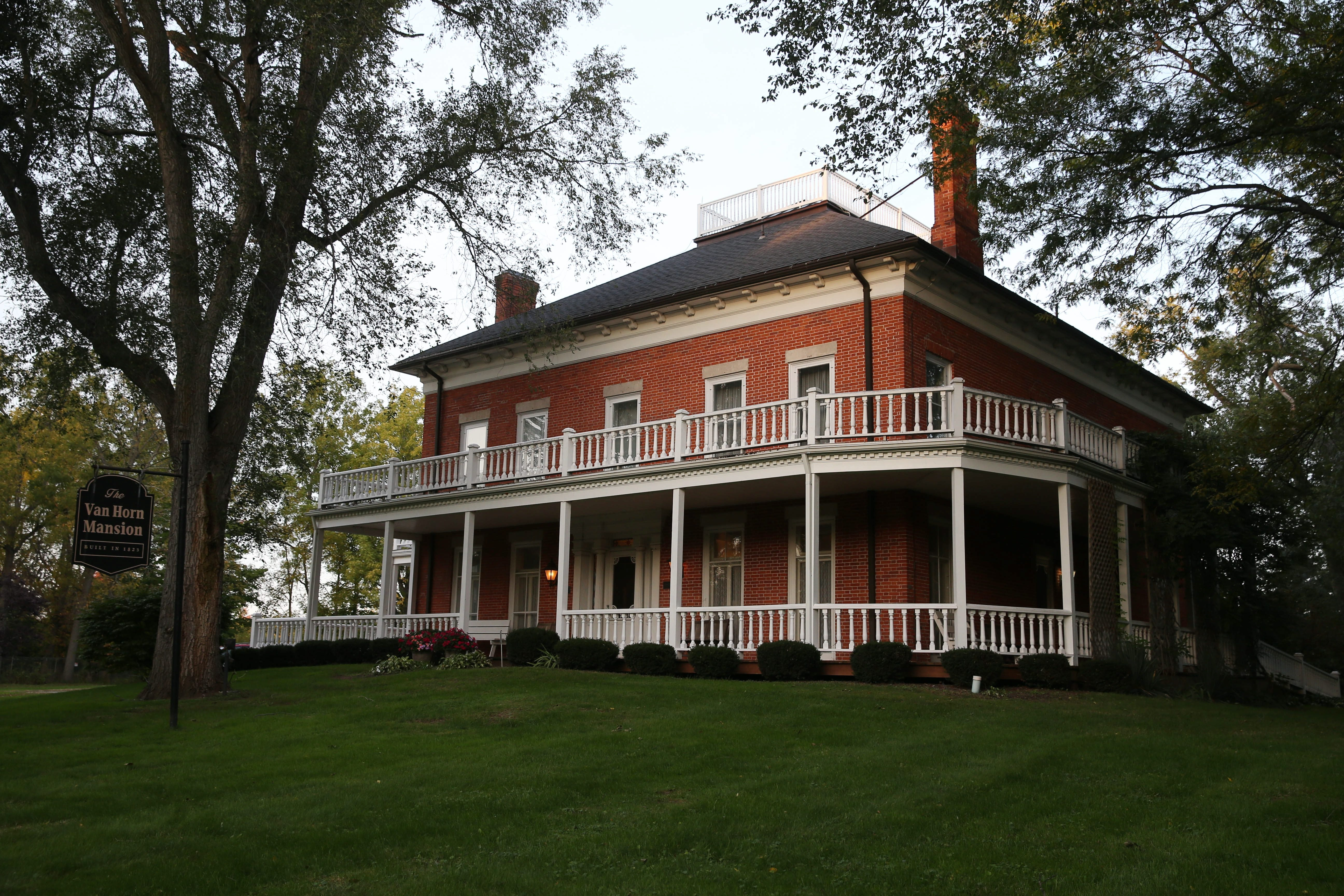 The Van Horn Mansion in Burt, which is on the National Register of Historic Places, has weekend candlelight tours throughout October. The Victorian house is said to be haunted.