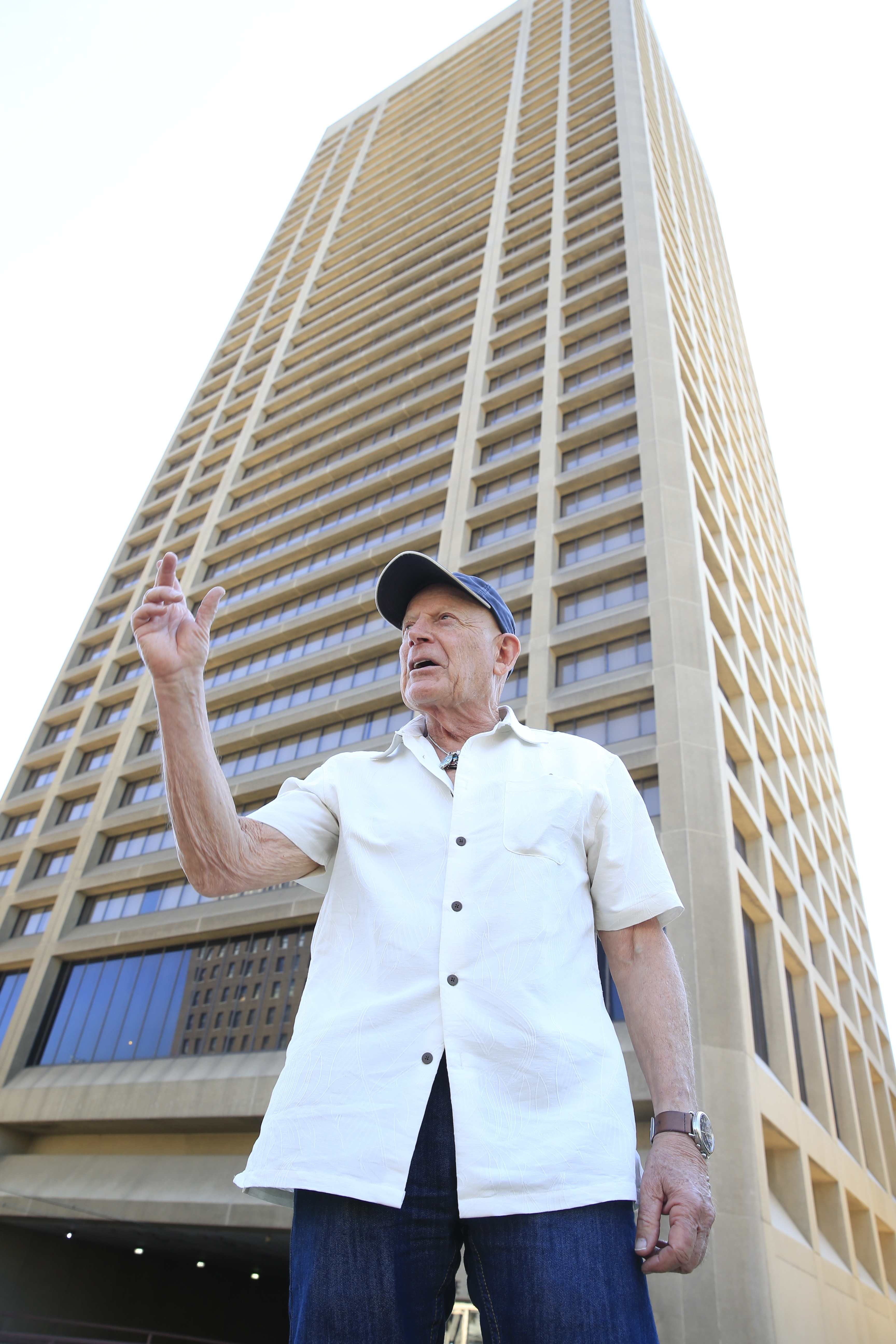 Douglas Jemal stands outside One Seneca Tower on Wednesday, Aug. 24, 2016. (Harry Scull Jr./Buffalo News)