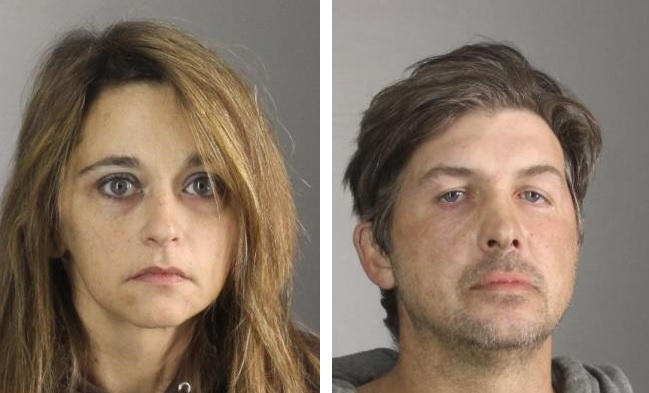 Rebecca Ott, 37, and Anthony Haake, 39, of Eden face a variety of charges in connection to a Sept. 18 burglary in Colden. (Erie County Sheriff's Office)