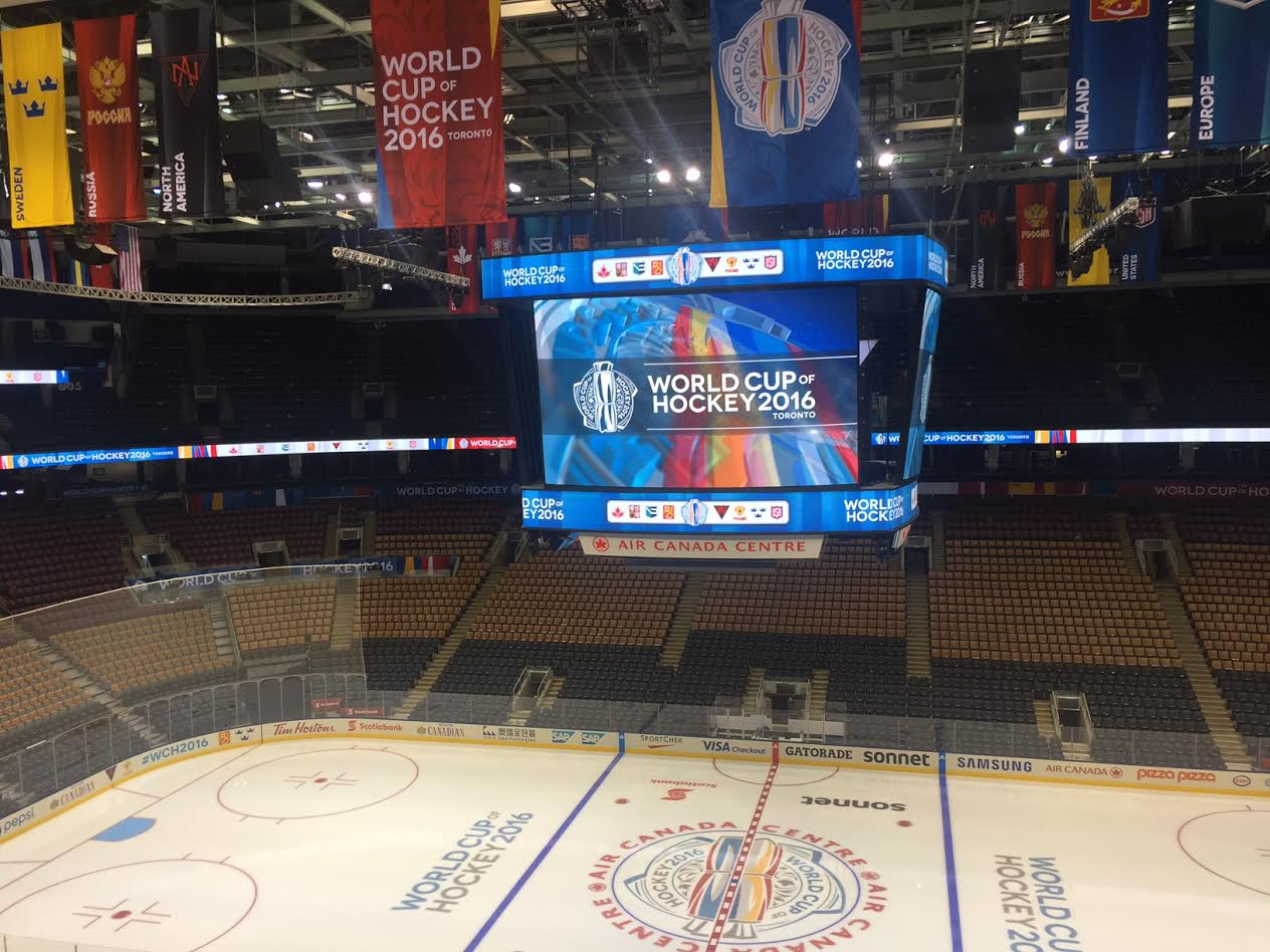 With new banners in the rafters, Toronto's Air Canada Centre will be the site of all World Cup games (Mike Harrington/Buffalo News).