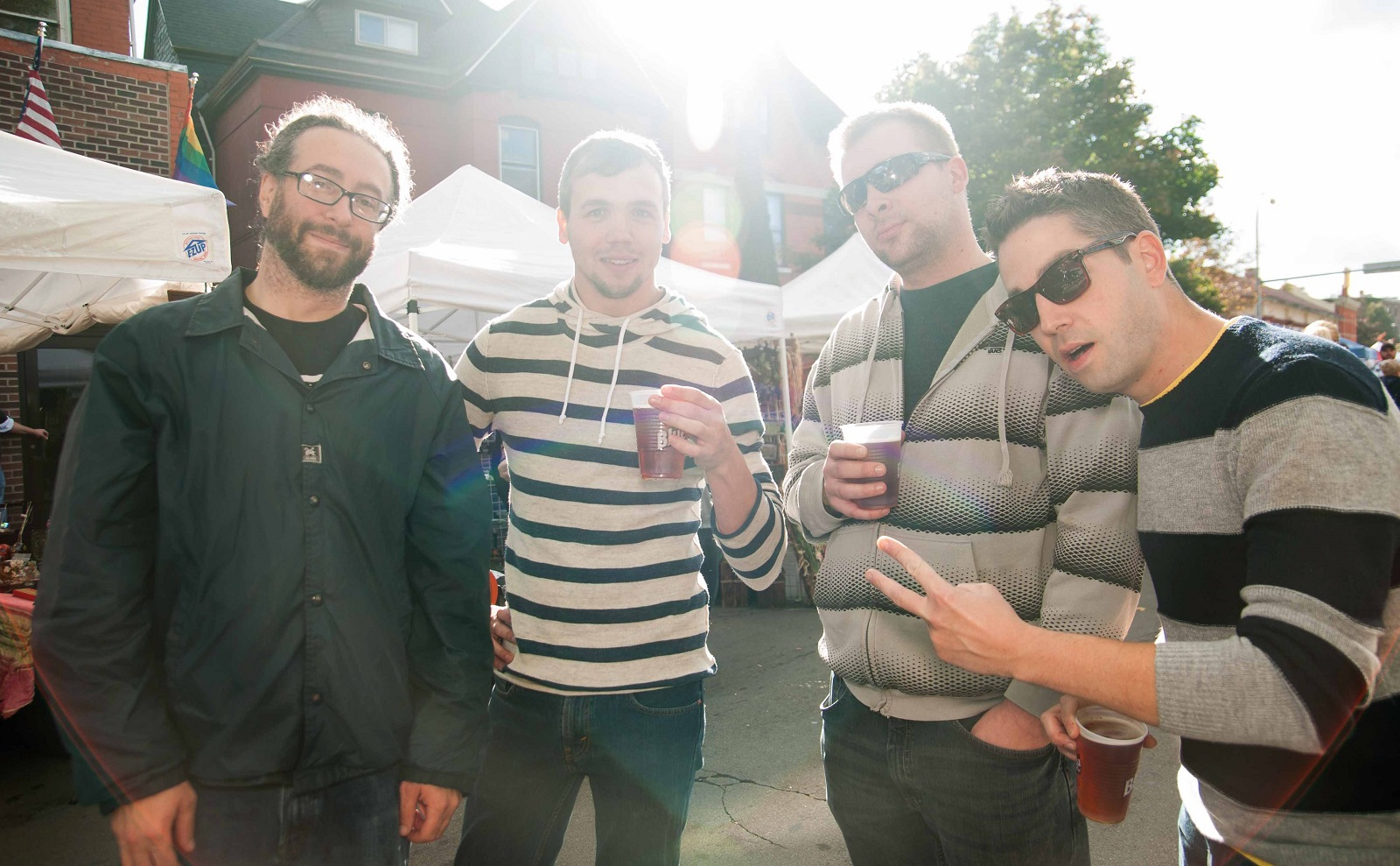 This is almost a band press image, but it's really just a bunch of smiling friends at the 2014 Allentown Fall Festival. (Matt Weinberg/Special to The News)