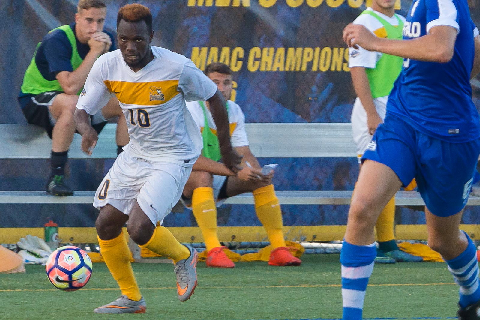 Attacking midfielder Melvin Blair, No. 10, was an offensive dynamo down the stretch in 2015. (Don Nieman/Special to The News)