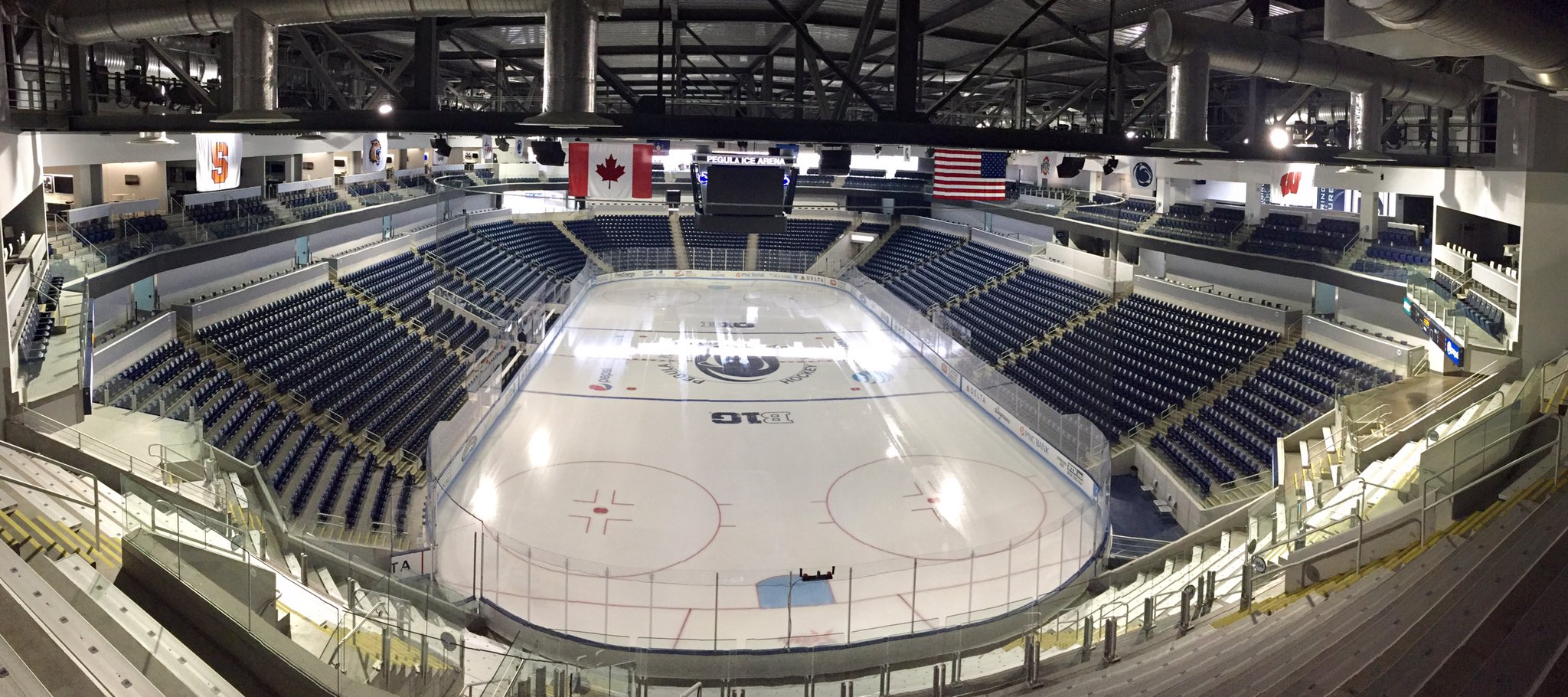 A view from the top row of Pegula Ice Arena. (John Vogl/Buffalo News)