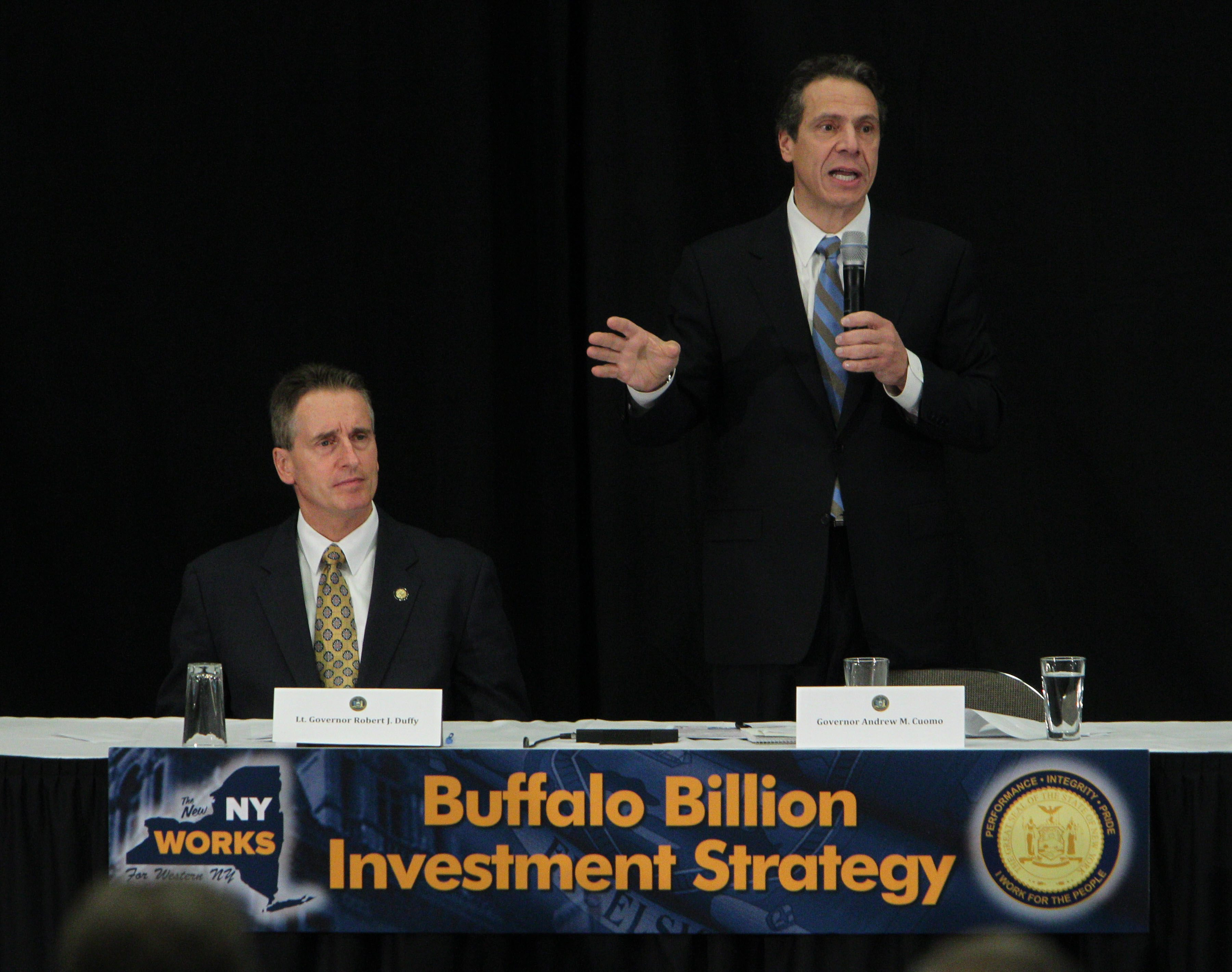 Governor Andrew Cuomo speaks about the Buffalo Billion on Tuesday, Dec. 4, 2012. (Sharon Cantillon/Buffalo News)