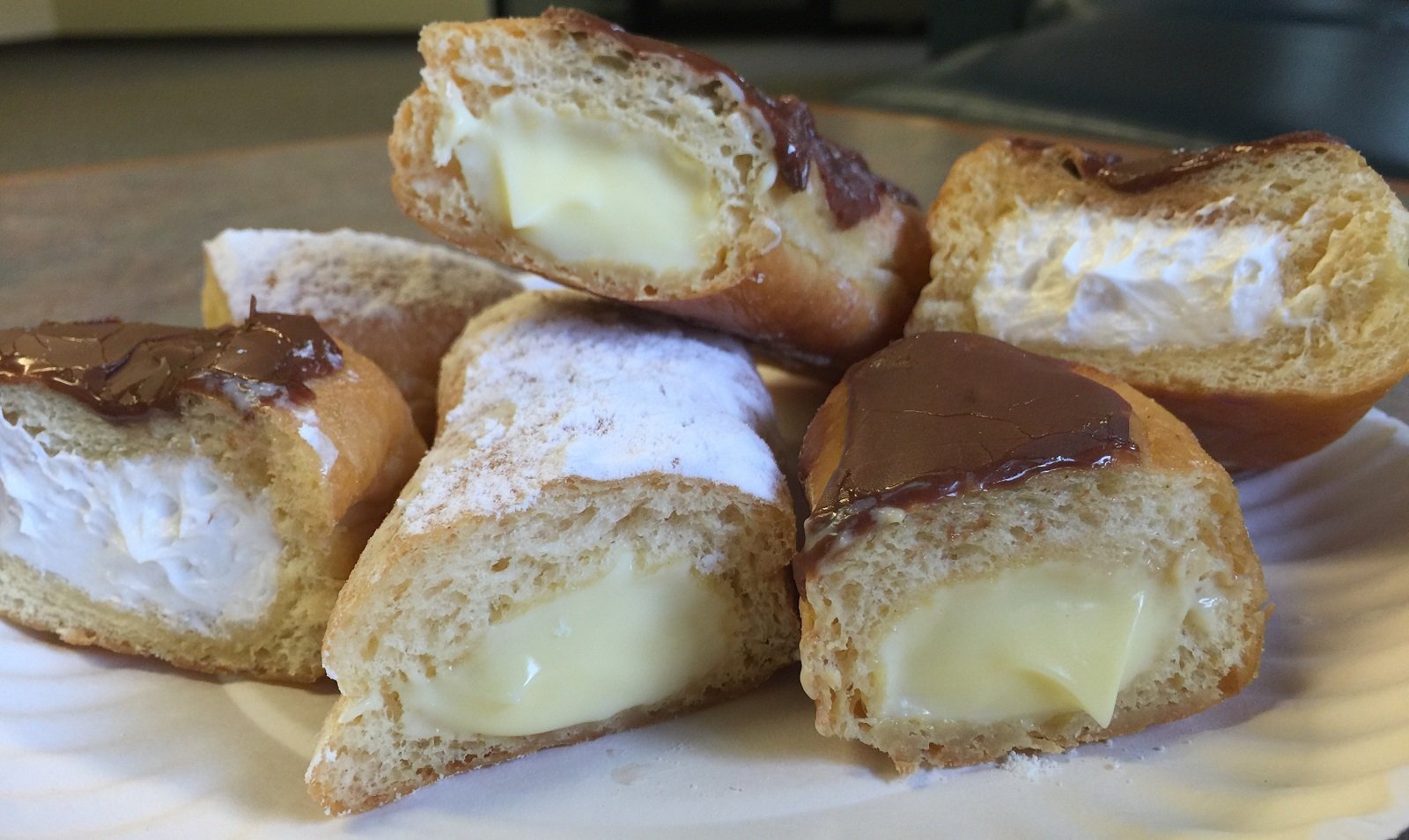 Happy National Cream Filled Doughnut Day, Buffalo. Here are some examples from Eileen's Bakery in West Seneca. (Andrew Galarneau/Buffalo News)