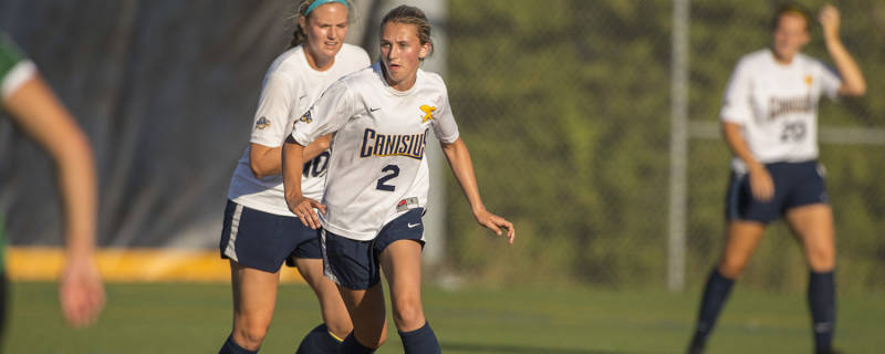 Gretta Dry scored her team-high seventh goal in the win over Iona. (via Canisius Athletics)