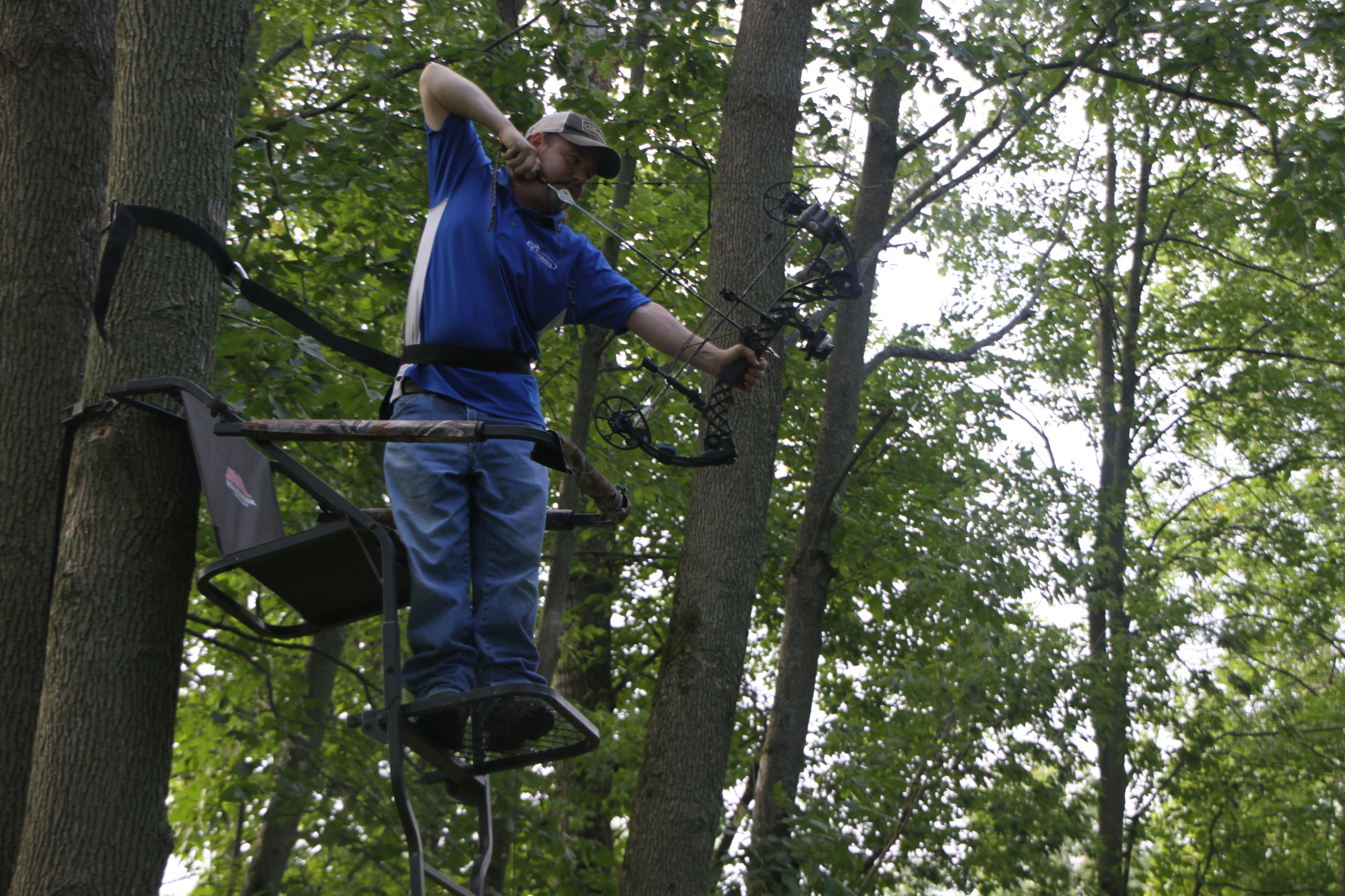 Think about it: if you're going to hunt out of a tree stand then you had better do some practice in a tree stand.