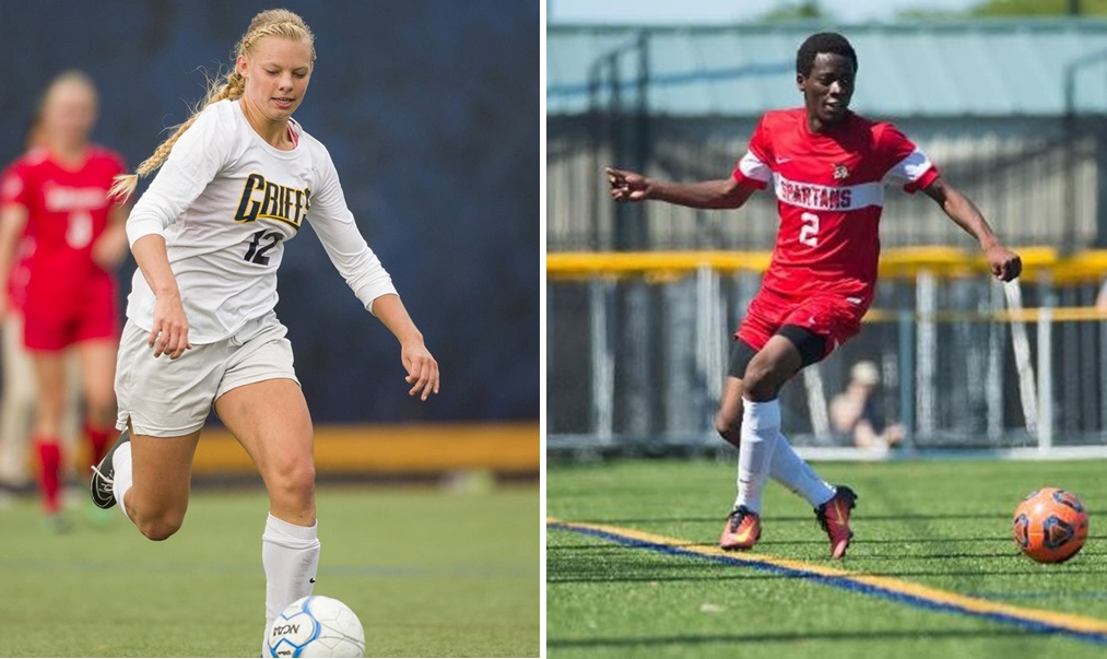 Melanie Linsmair and the Canisius Griffins travel to UB, while Aweso Noor and the D'Youville Spartans host Daemen in this week's 5 home matches to watch. (via Canisius/D'Youville athletics)