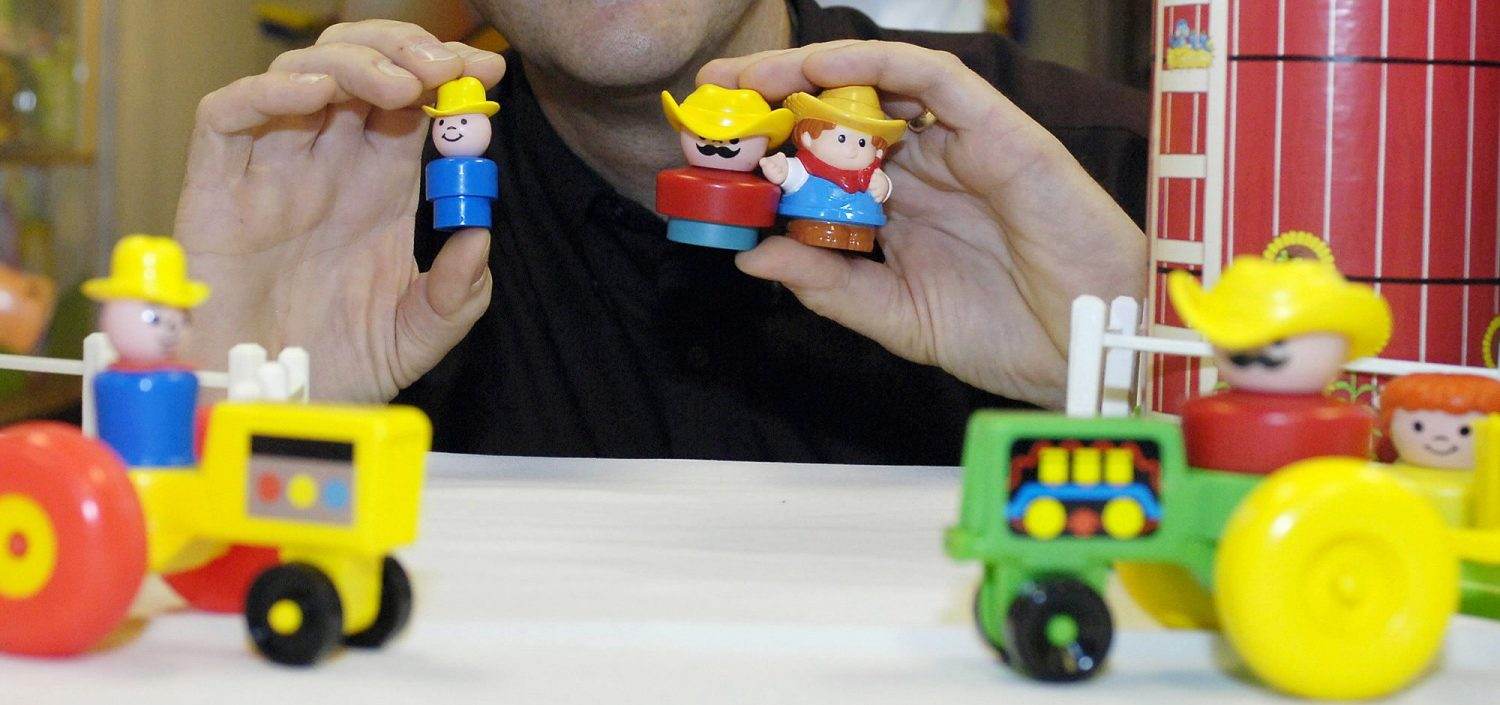 Farmer Jed and his fellow Fisher-Price Little People are seeking the immortality that comes with admission to the Toy Hall of Fame. (Photo courtesy of Fisher-Price)