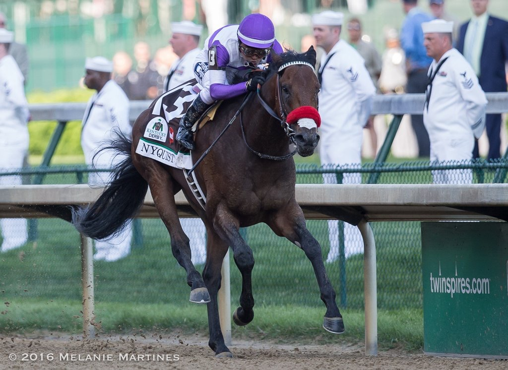 Nyquist and Exaggerator set to face off again in Pennsylvania Derby. Photo Credit: Michelle Martines