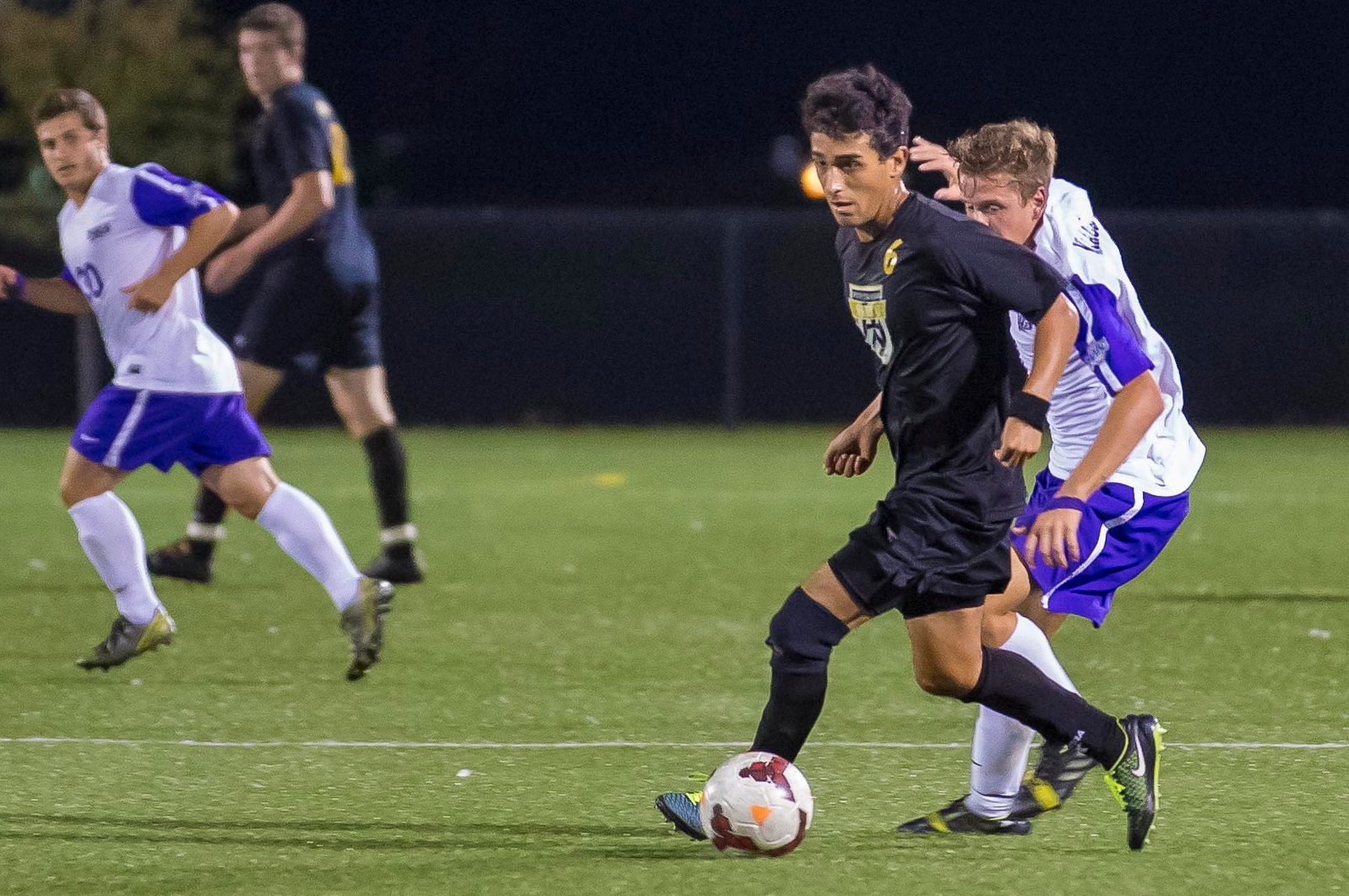 St. Bonaventure's Noel Orozco, No. 6 in brown, is versatile in the midfield. (Don Nieman/Special to The News)