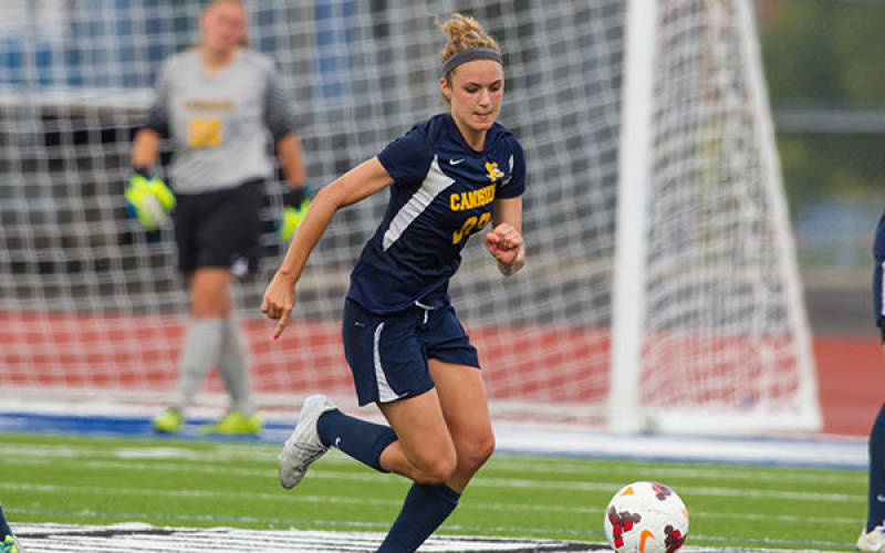 Callie Good is the Griffs' workhorse defensively. (via Canisius Athletics)