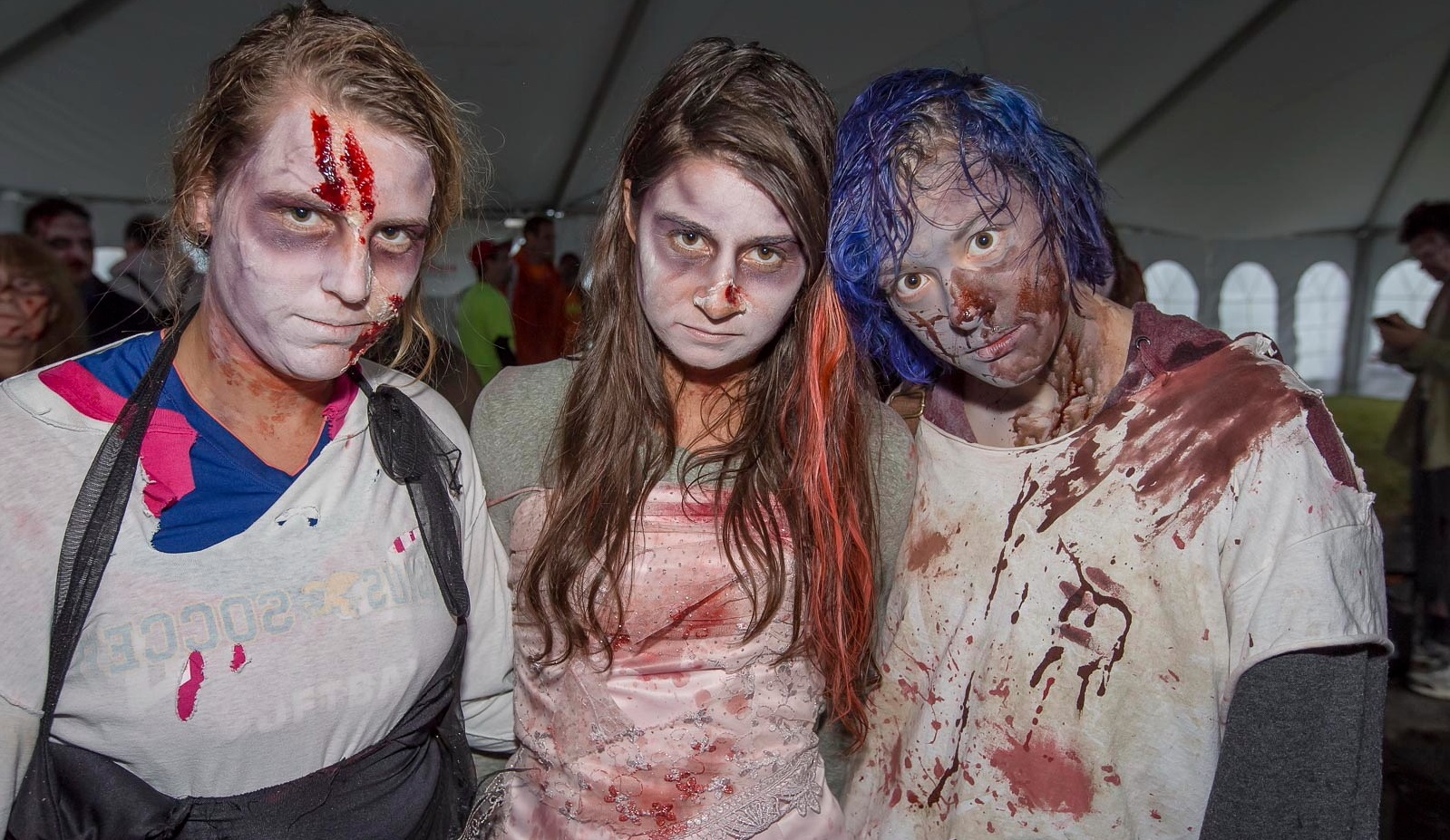 The 5K at the Great Pumpkin Farm in Clarence involves avoiding zombies. (Don Nieman/Special to The News)
