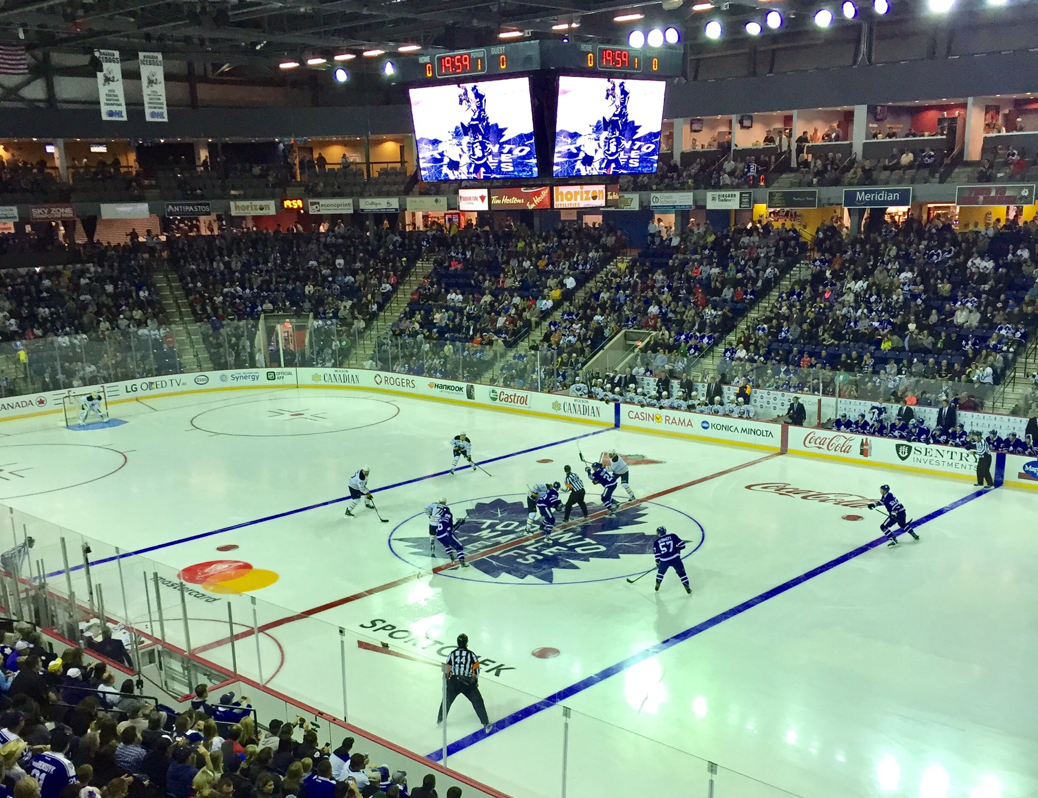 The Sabres made their debut in Meridian Centre against the Maple Leafs. (Photo by John Vogl)