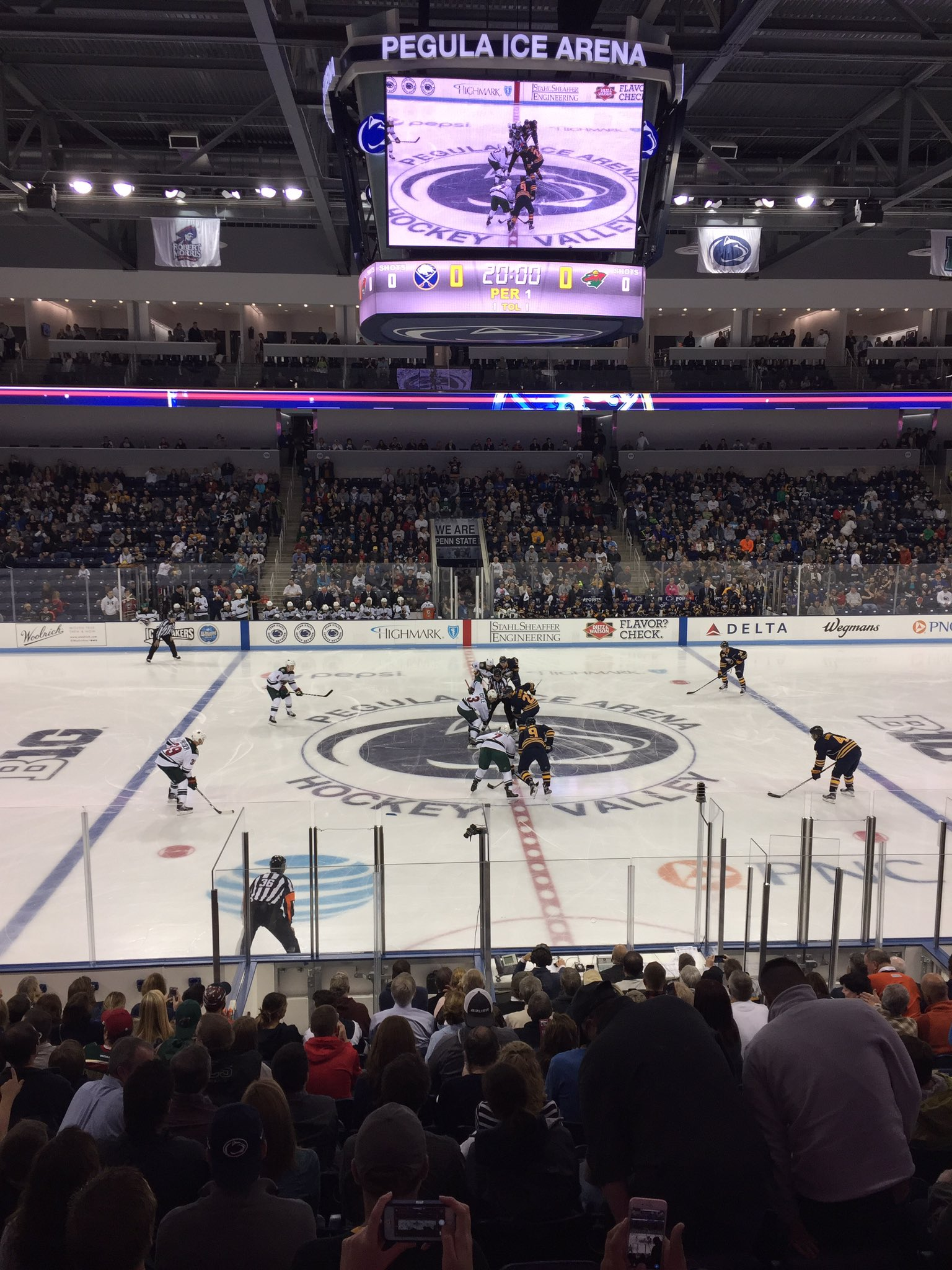 The Sabres and Wild opened the 2016-17 preseason in Pegula Ice Arena.