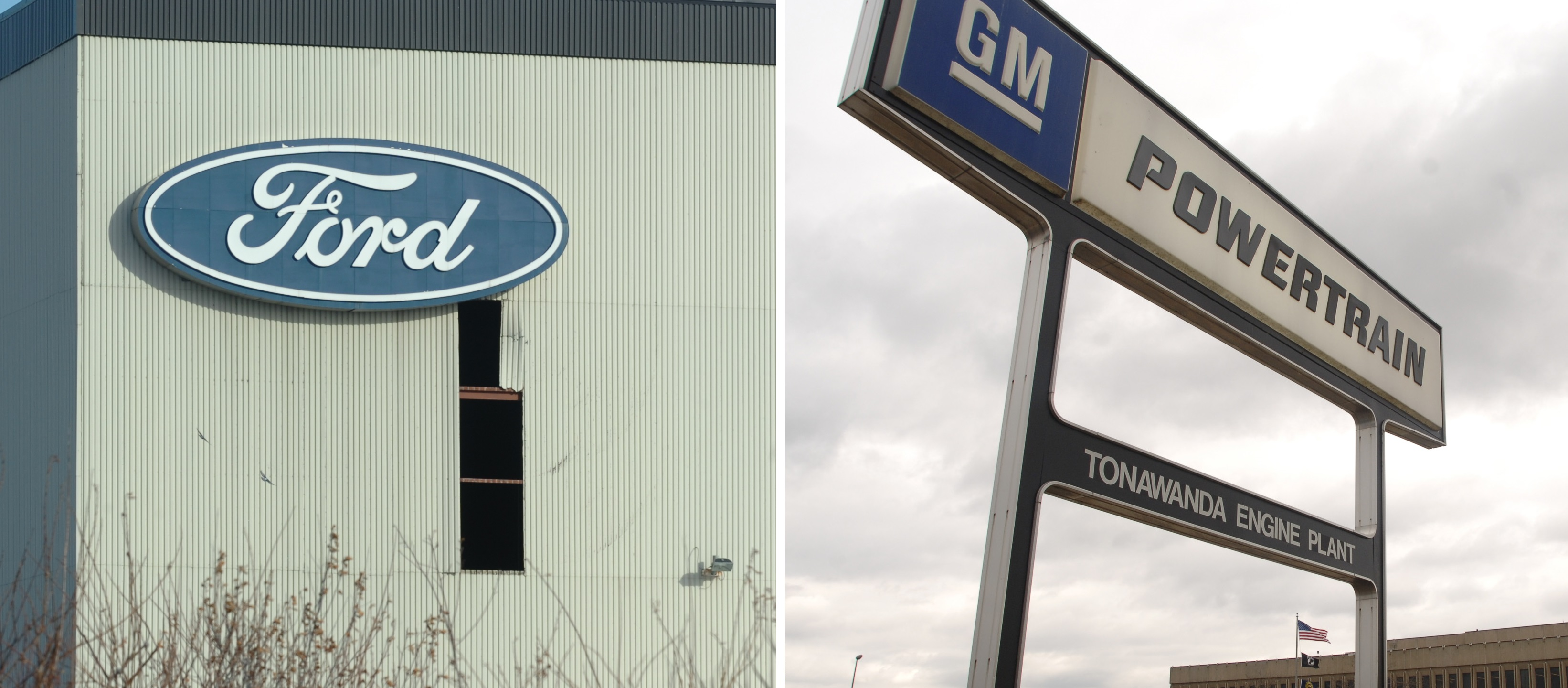 The Ford plant in Hamburg and the GM Powertrain Engine plant in Tonawanda. (News file photos)