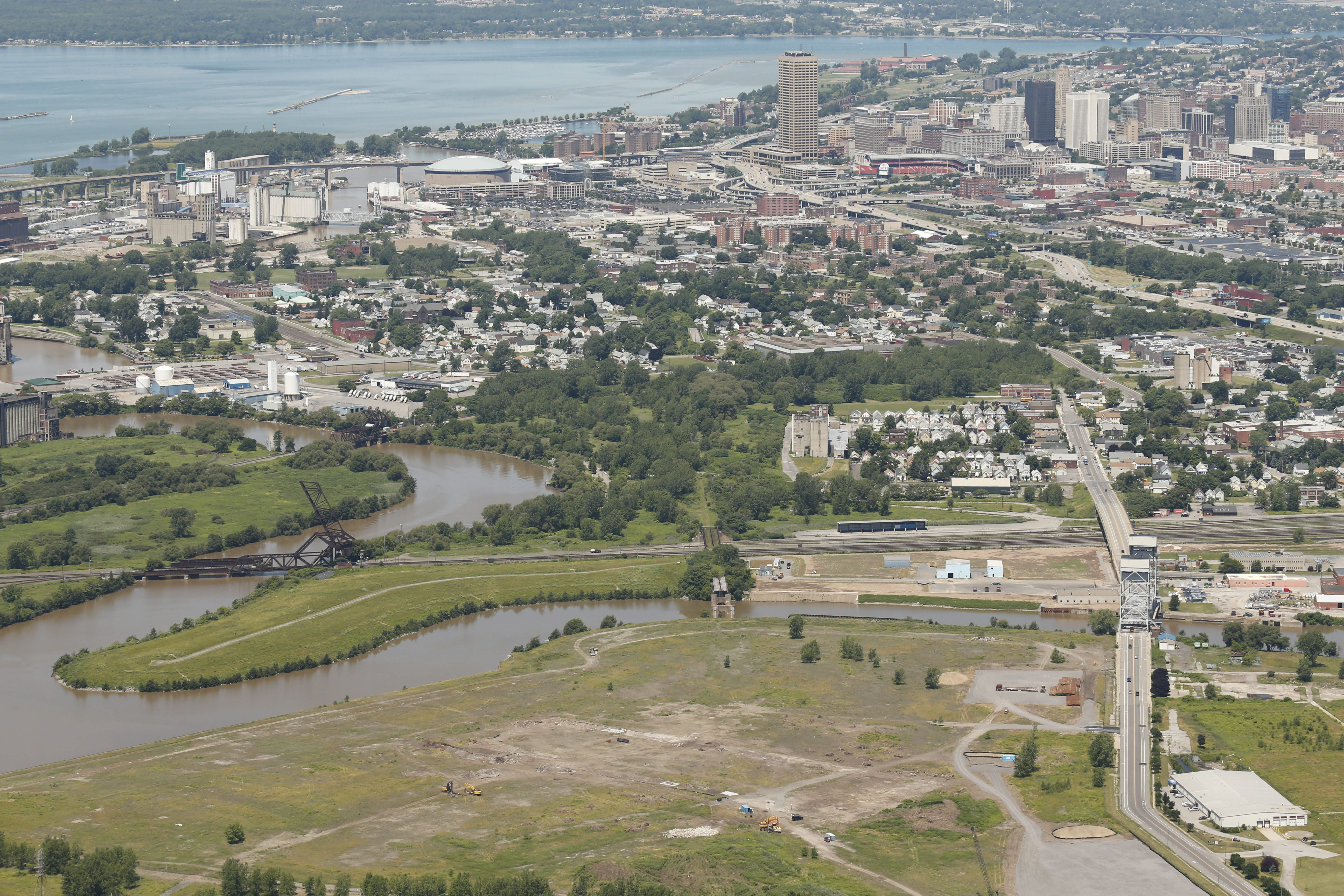 The RiverBend site on the Buffalo River in 2014.  (Derek Gee/Buffalo News file photo)