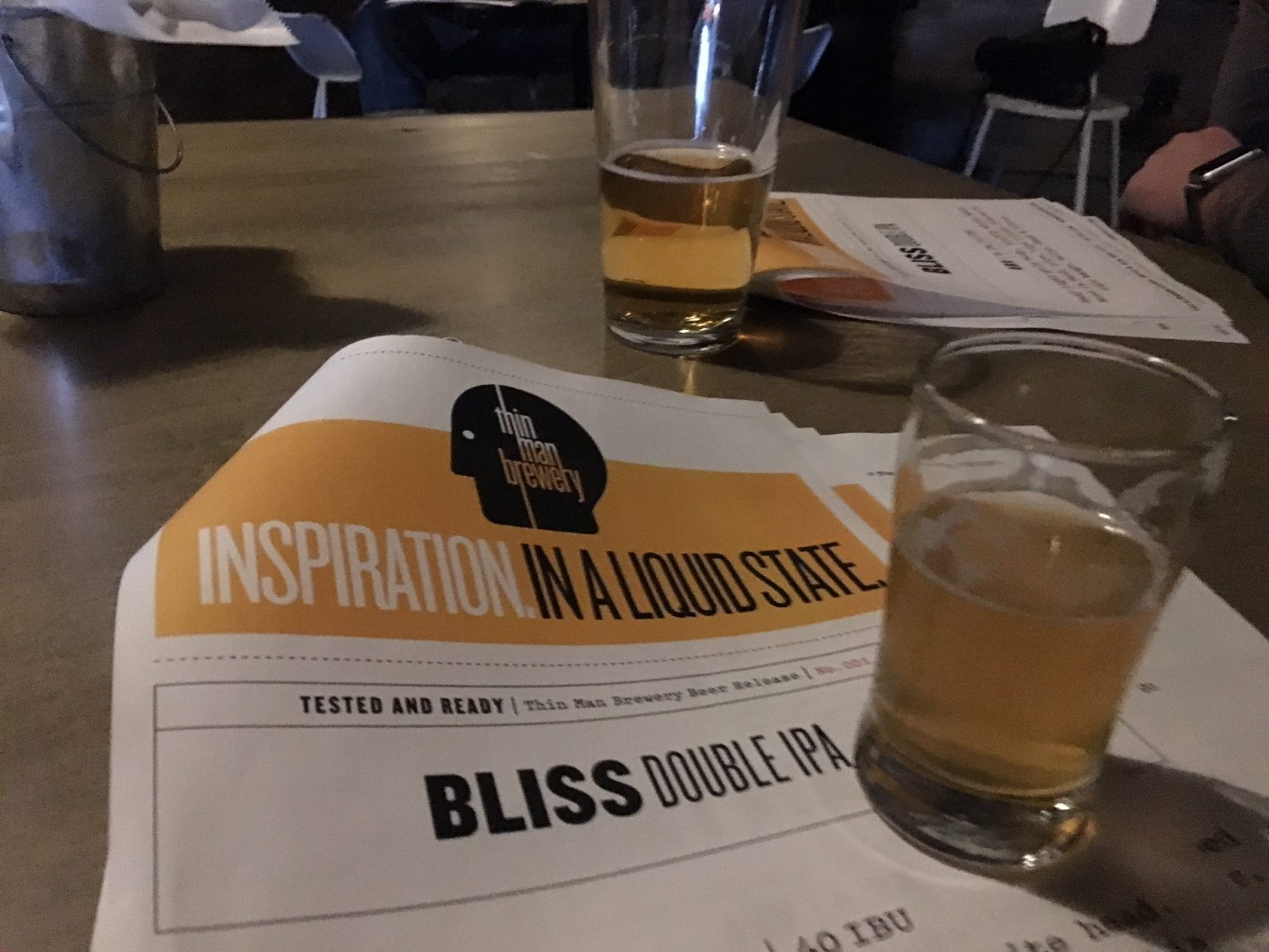 Thin Man Brewery is welcoming back Bliss, a double IPA.