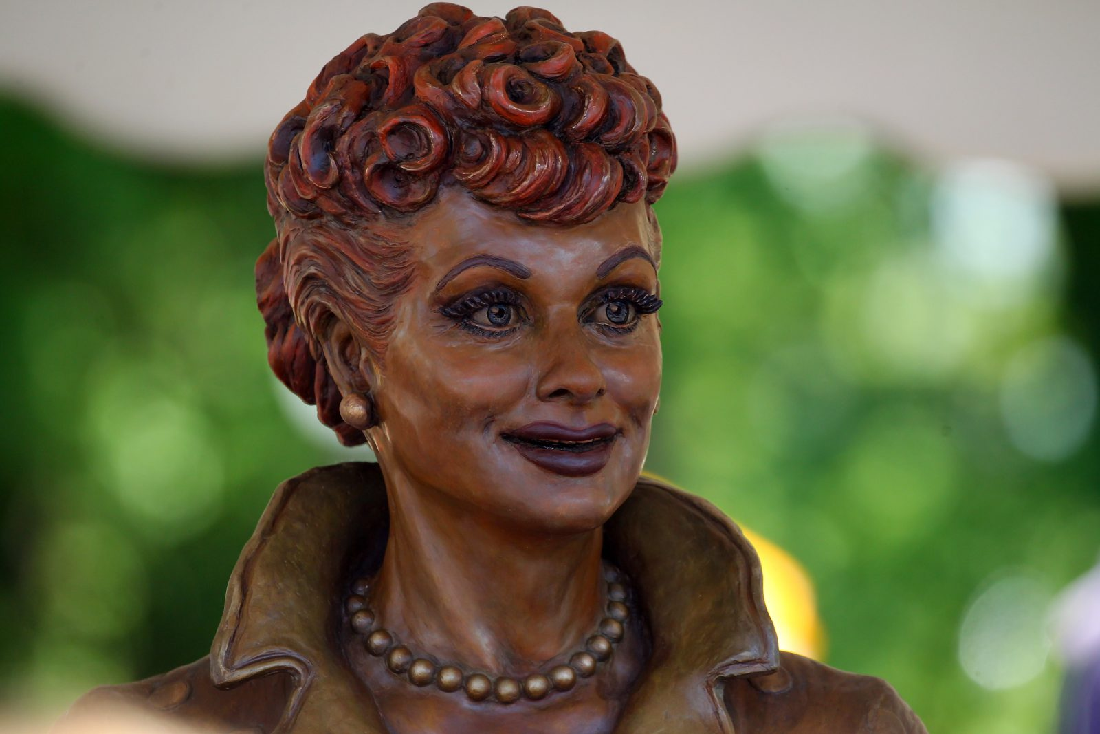 The new statue of Lucille Ball in the Lucille Ball Memorial Park in Celoron is a lasting reminder of the comedian's legacy. (Mark Mulville/Buffalo News)