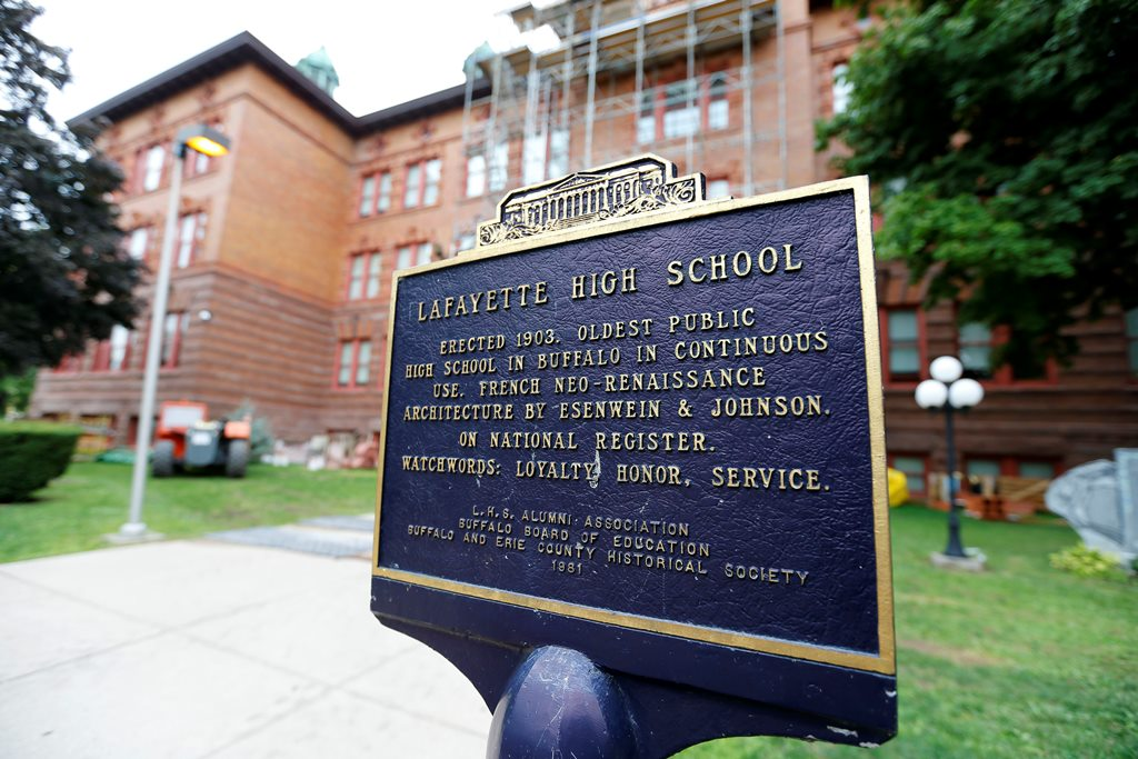 Lafayette High School is the oldest Buffalo public high school in continuous use.  (Mark Mulville/Buffalo News)