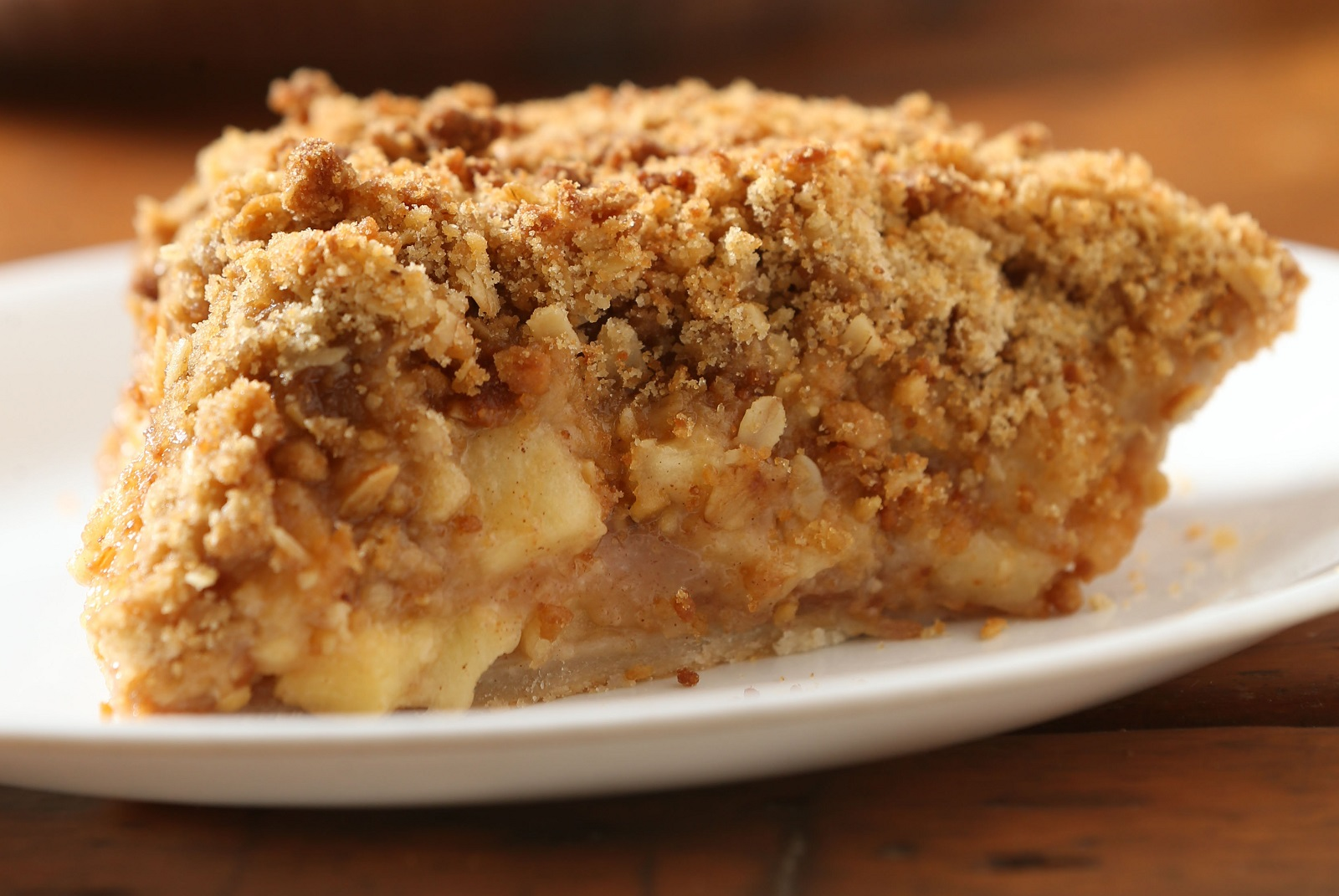 The apple crumb pie from Sanger Farm. (Sharon Cantillon/Buffalo News)