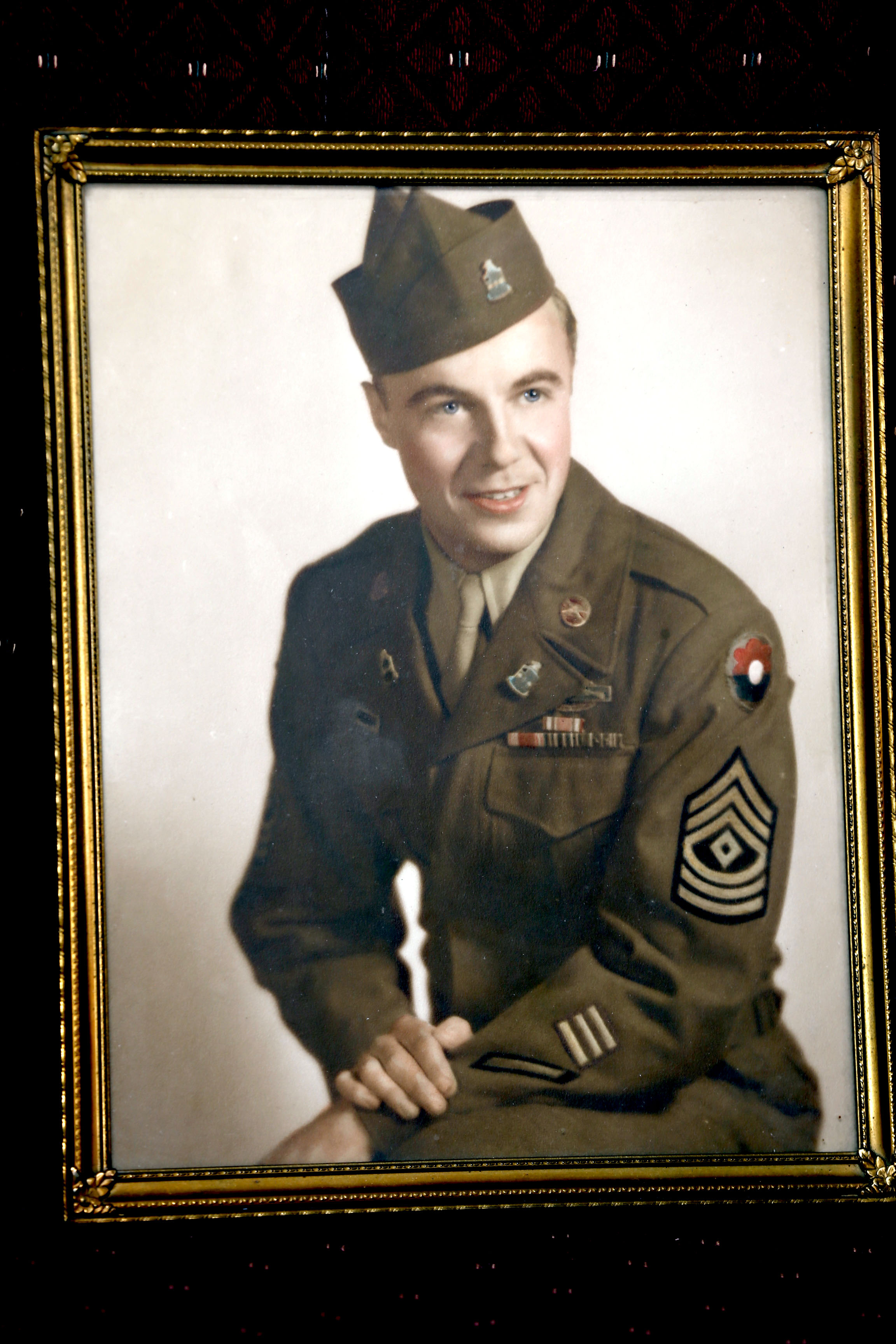 Clay Bihl in his uniform in the 1940s during WWII. (Robert Kirkham/Buffalo News)