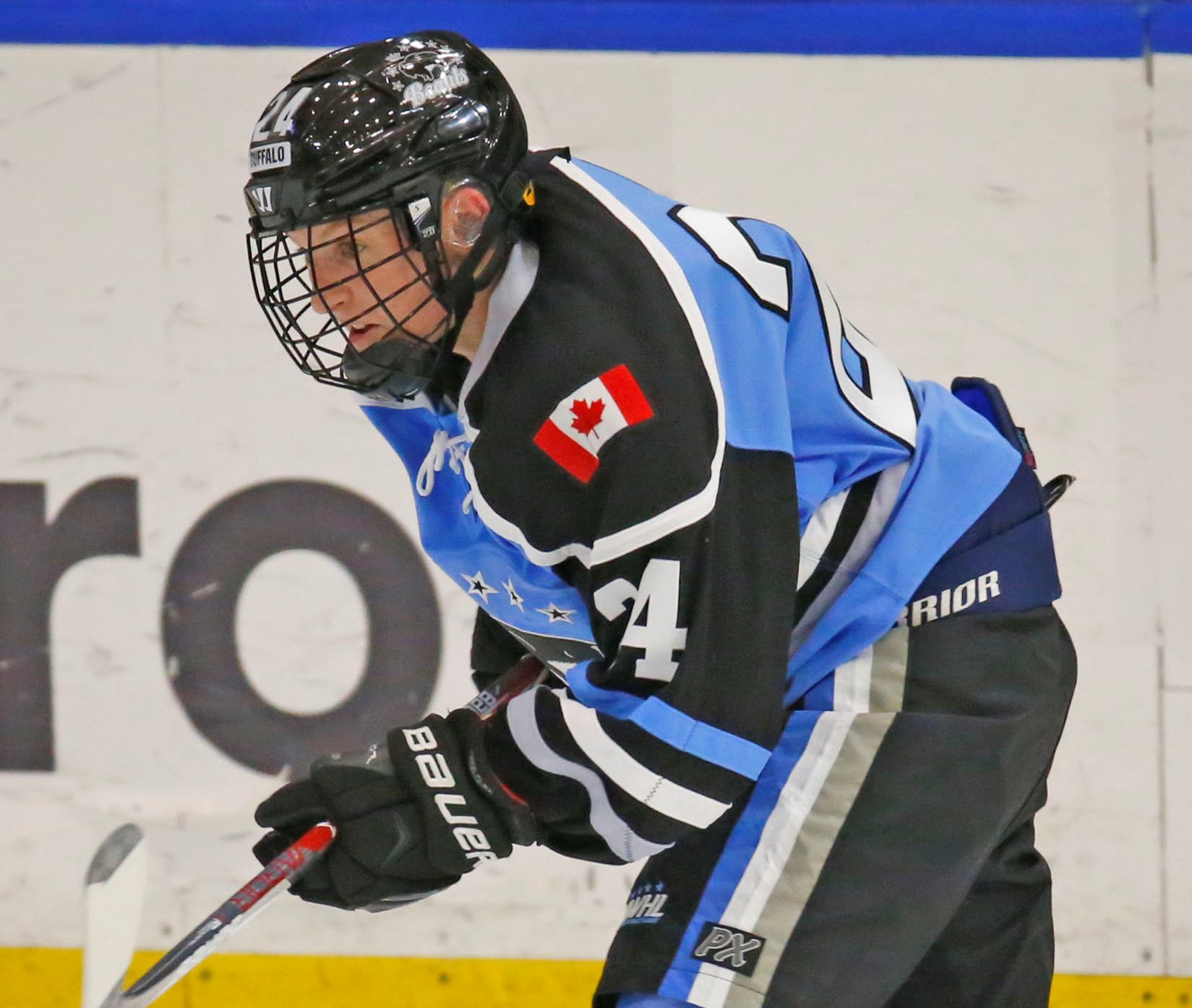Buffalo Beauts Harrison Browne during second period action against the Boston Pride on Friday,Oct. 7, 2016.(Harry Scull Jr./Buffalo News)