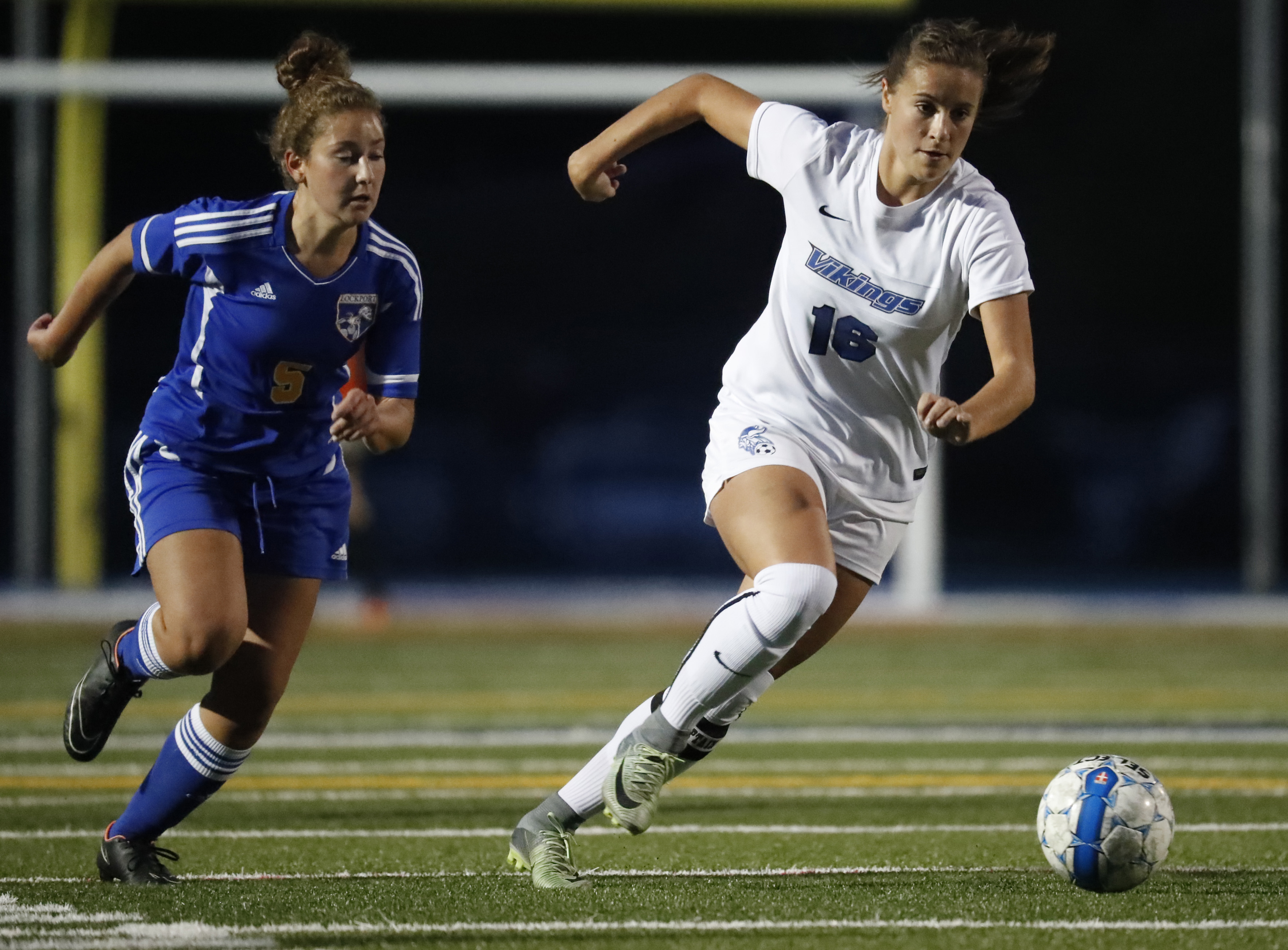 Madisyn Pezzino and Grand Island are the Class A-1 No. 1 seed heading into the Section VI girls soccer playoffs. (Harry Scull Jr./Buffalo News)