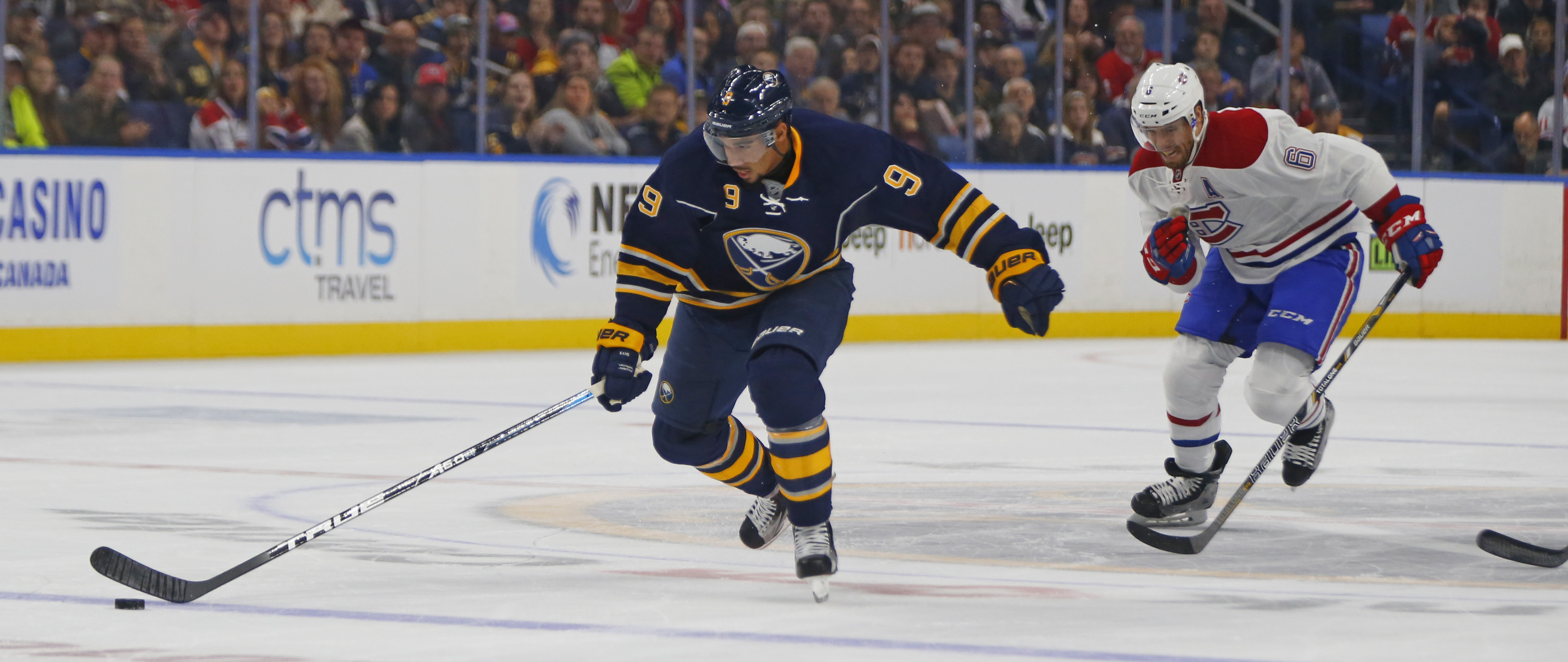 When challenged in court, Evander Kane has decided to issue his own challenge. (Harry Scull Jr./Buffalo News)